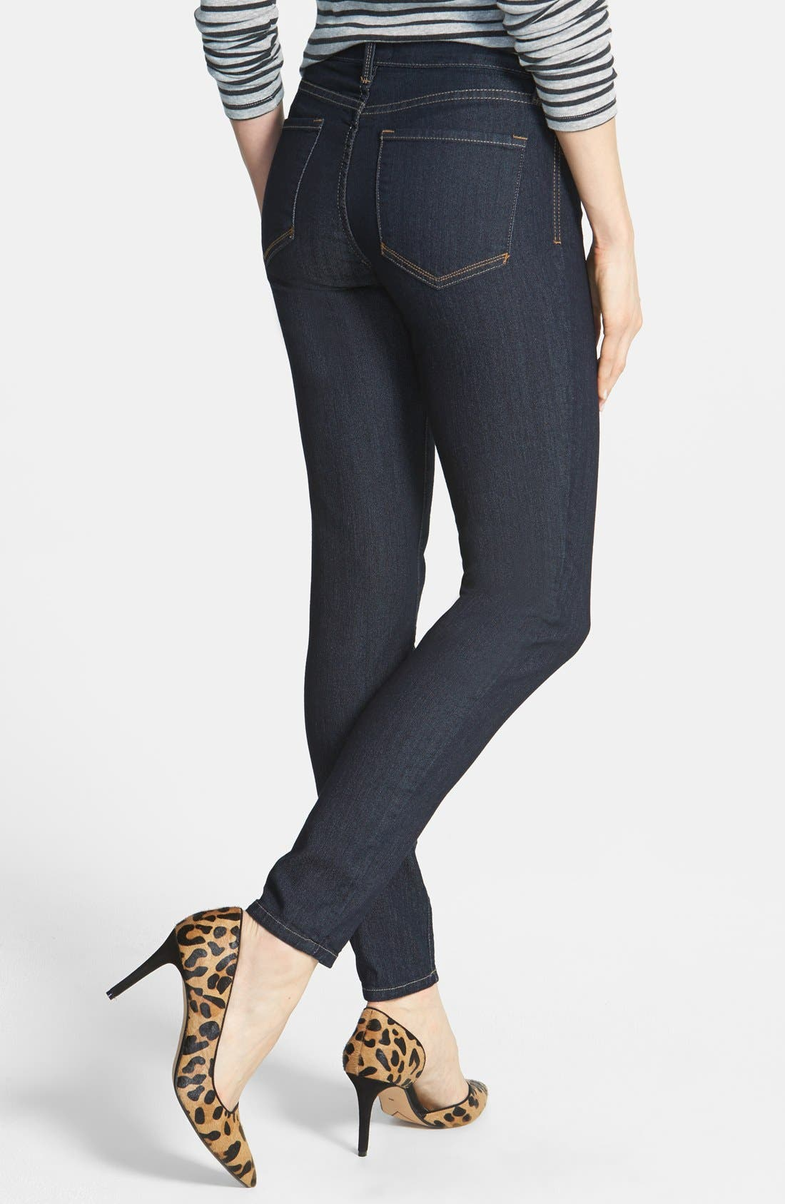 Alternate Image 2  - NYDJ 'Ami' Stretch Skinny Jeans (Dark Enzyme) (Petite)