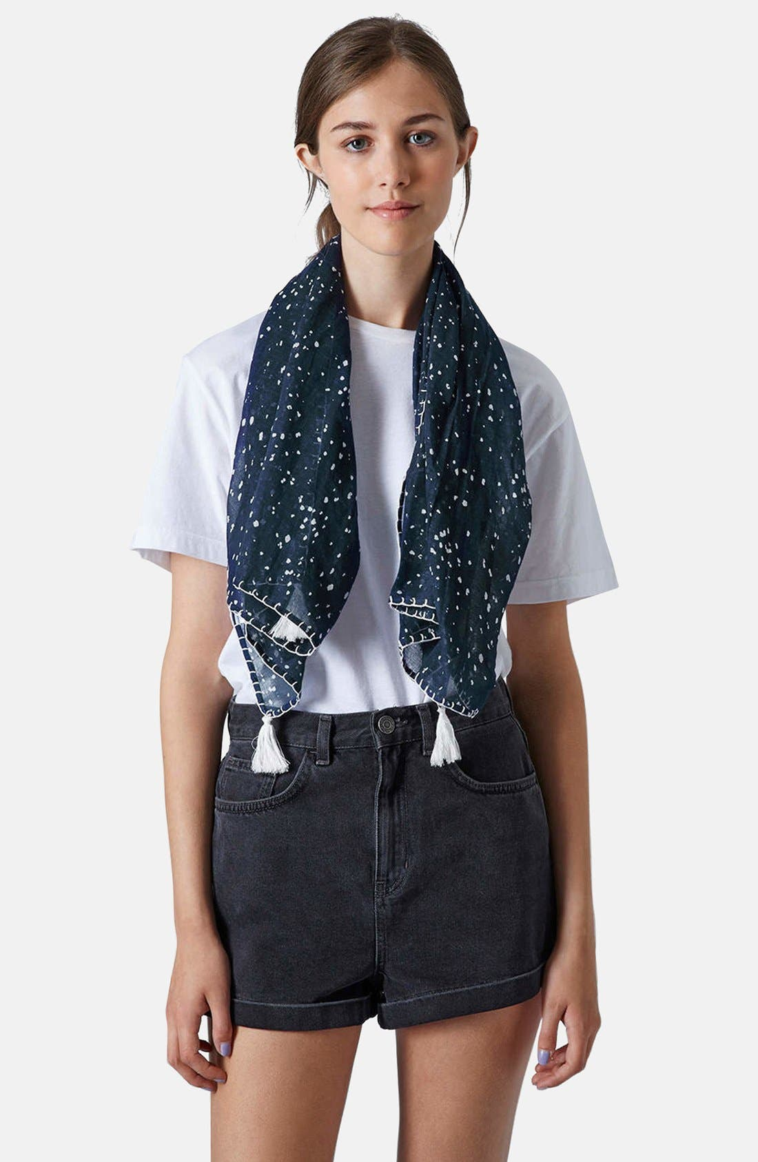 Alternate Image 2  - Topshop Speckle Print Scarf