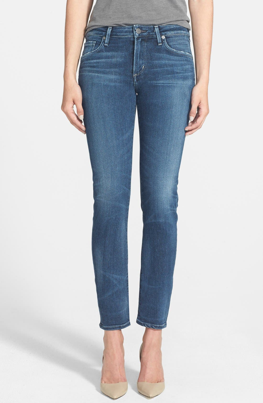 Alternate Image 1 Selected - Citizens of Humanity 'Arielle' Mid Rise Skinny Jeans (Hewett) (Petite)