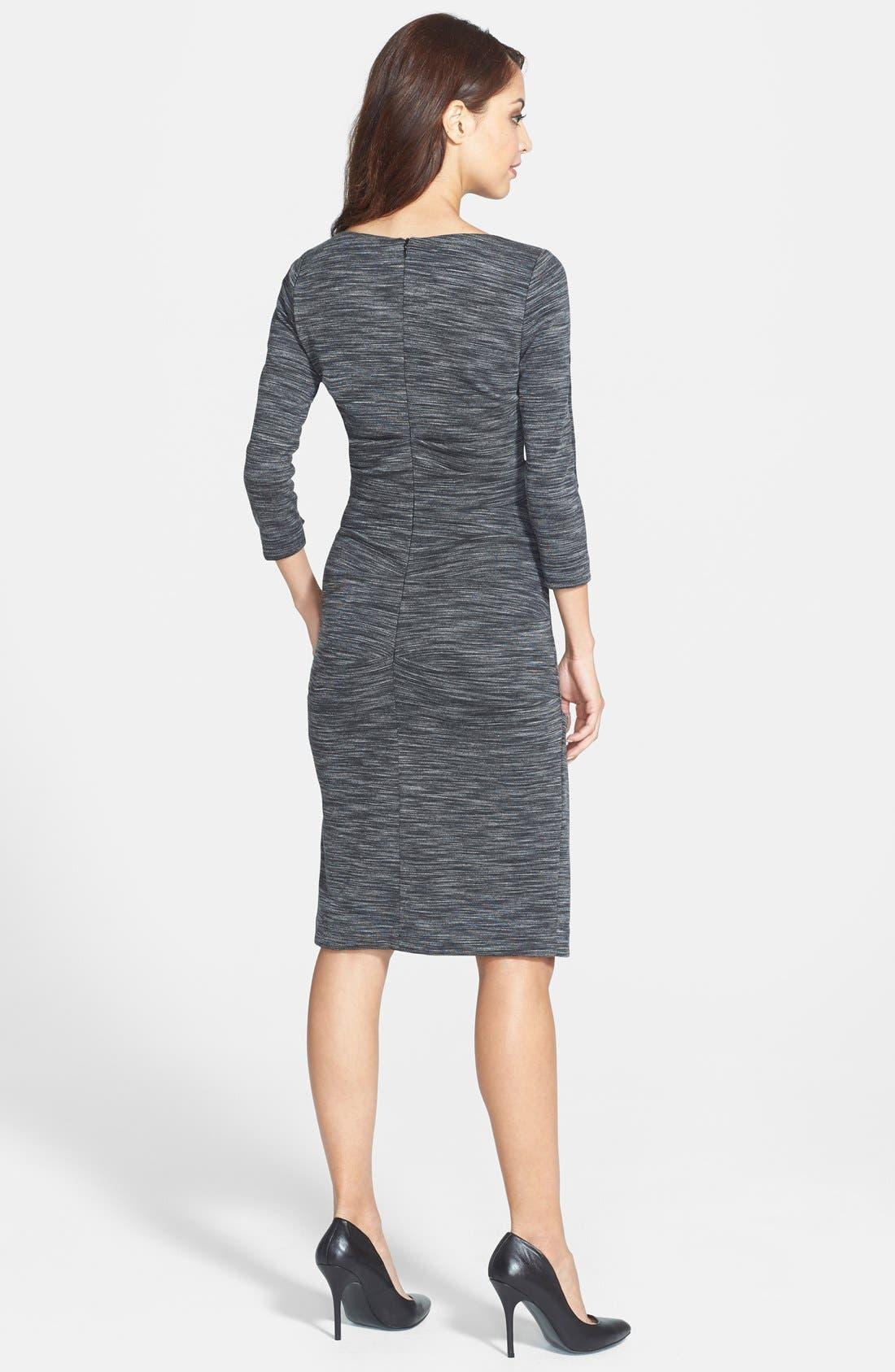 Alternate Image 2  - Nicole Miller 'Christina' Ponte Sheath Dress