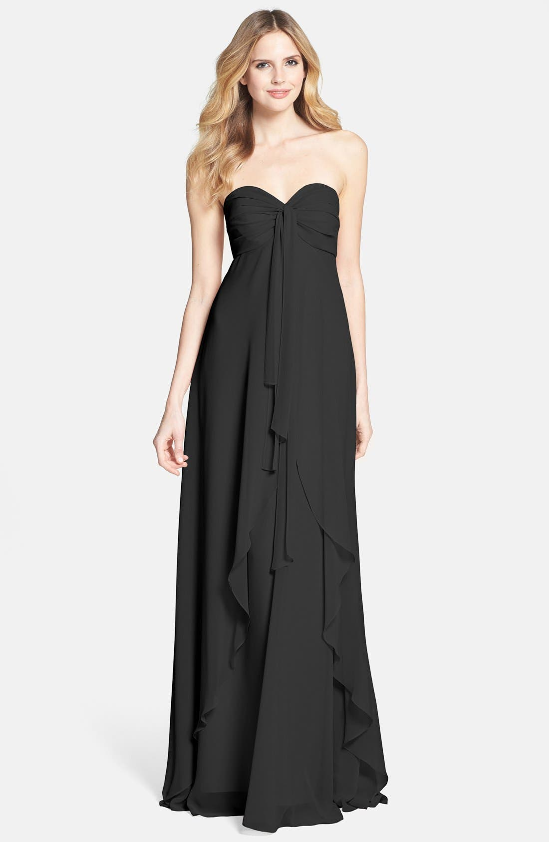 Alternate Image 1 Selected - Jenny Yoo 'Suri' Convertible Strapless Chiffon Dress
