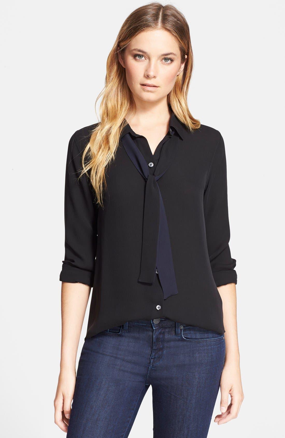 Alternate Image 1 Selected - Theory 'Emmanuelle' Silk Shirt