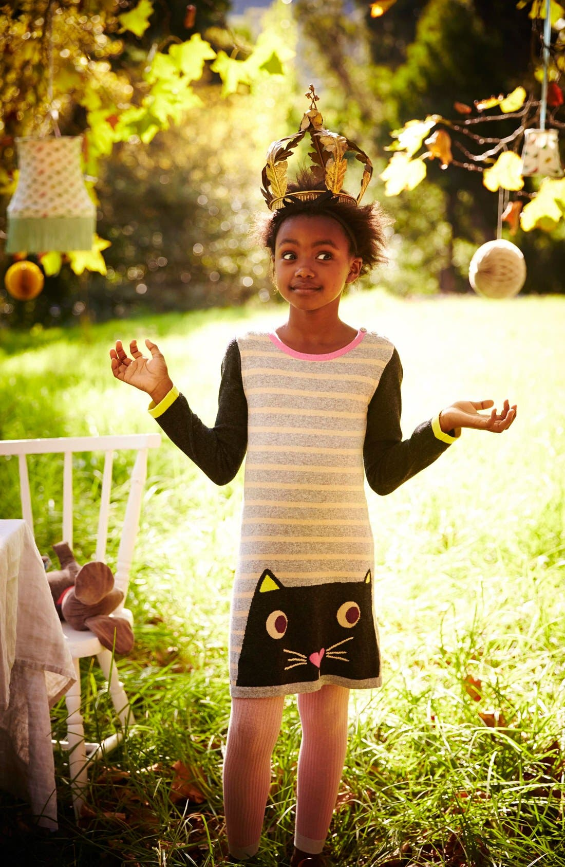 Alternate Image 2  - Mini Boden Fun Knit Dress (Toddler Girls, Little Girls & Big Girls)