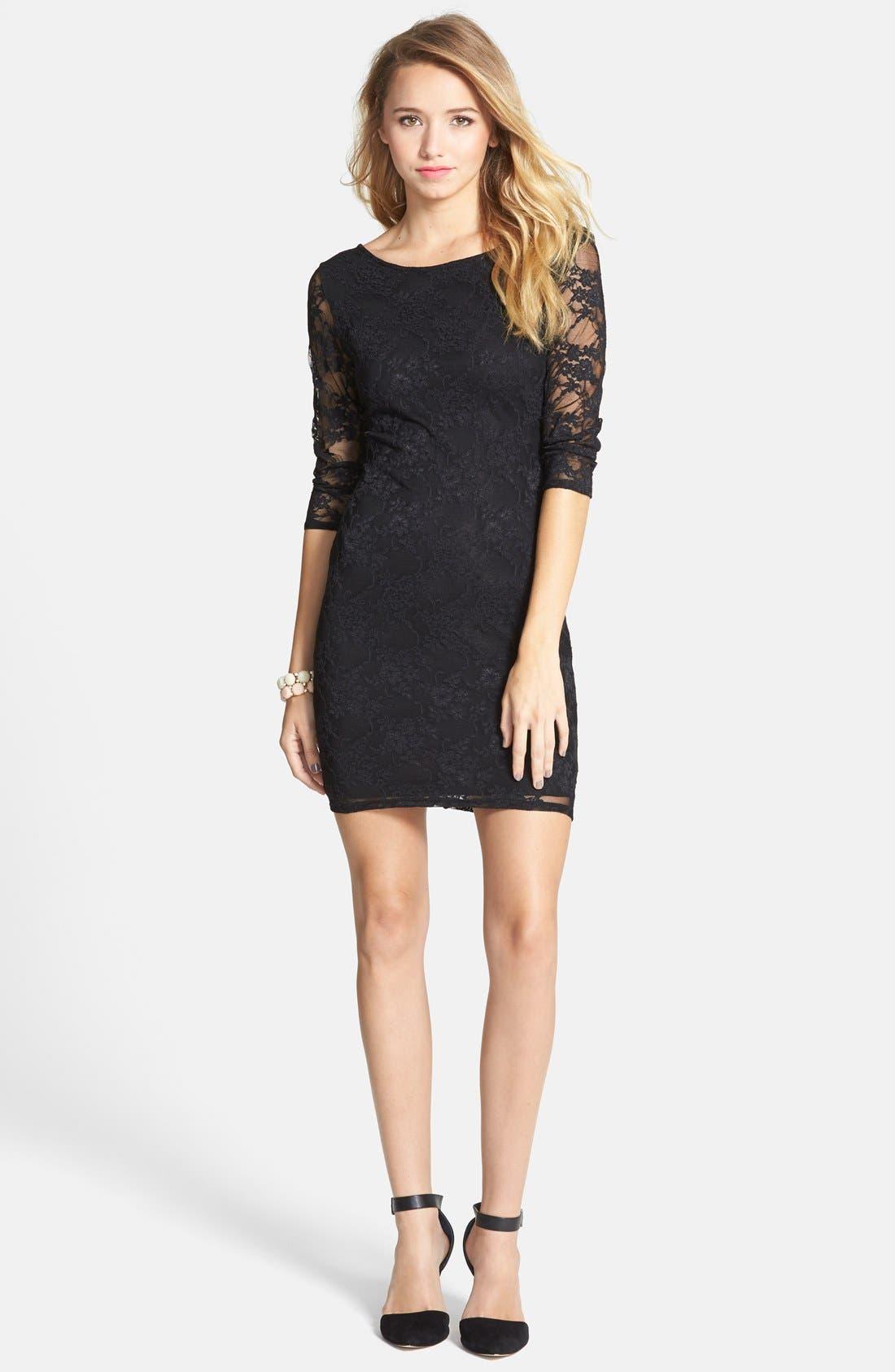Alternate Image 3  - BP. Lace Body-Con Dress (Juniors)