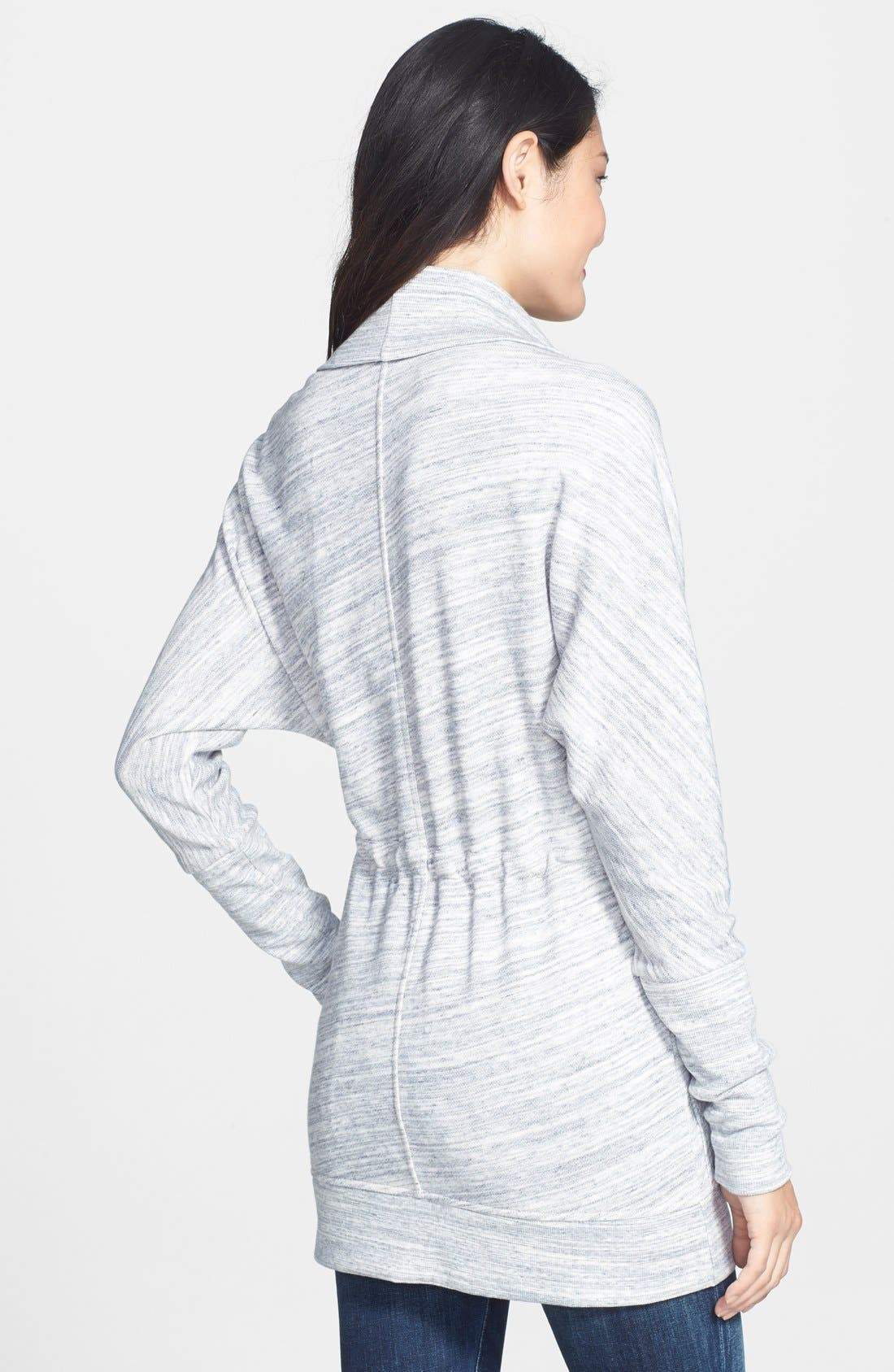 Alternate Image 2  - Caslon® Oversize Collar French Terry Jacket (Regular & Petite)