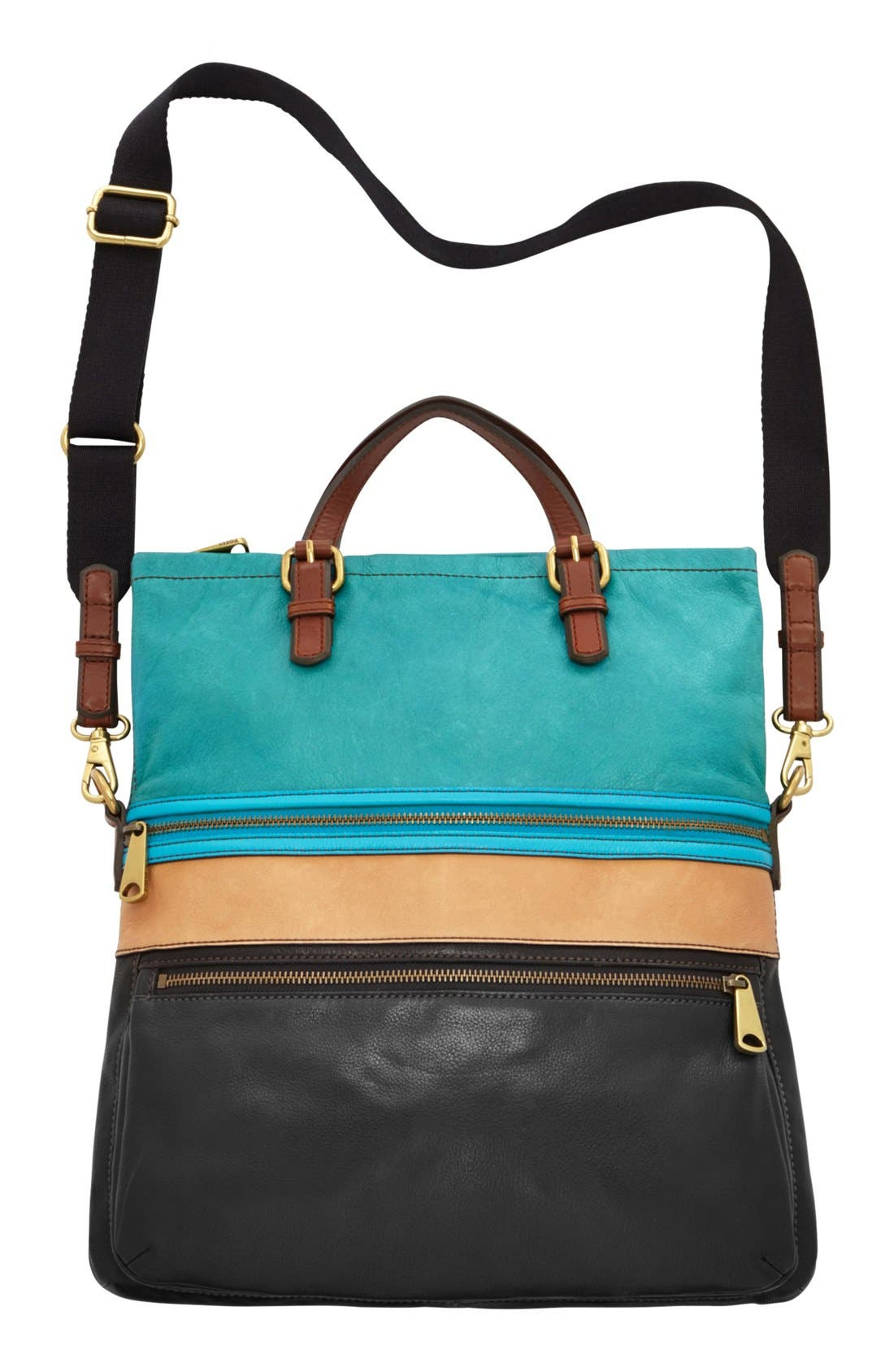 Alternate Image 3  - Fossil 'Explorer' Patchwork Convertible Tote