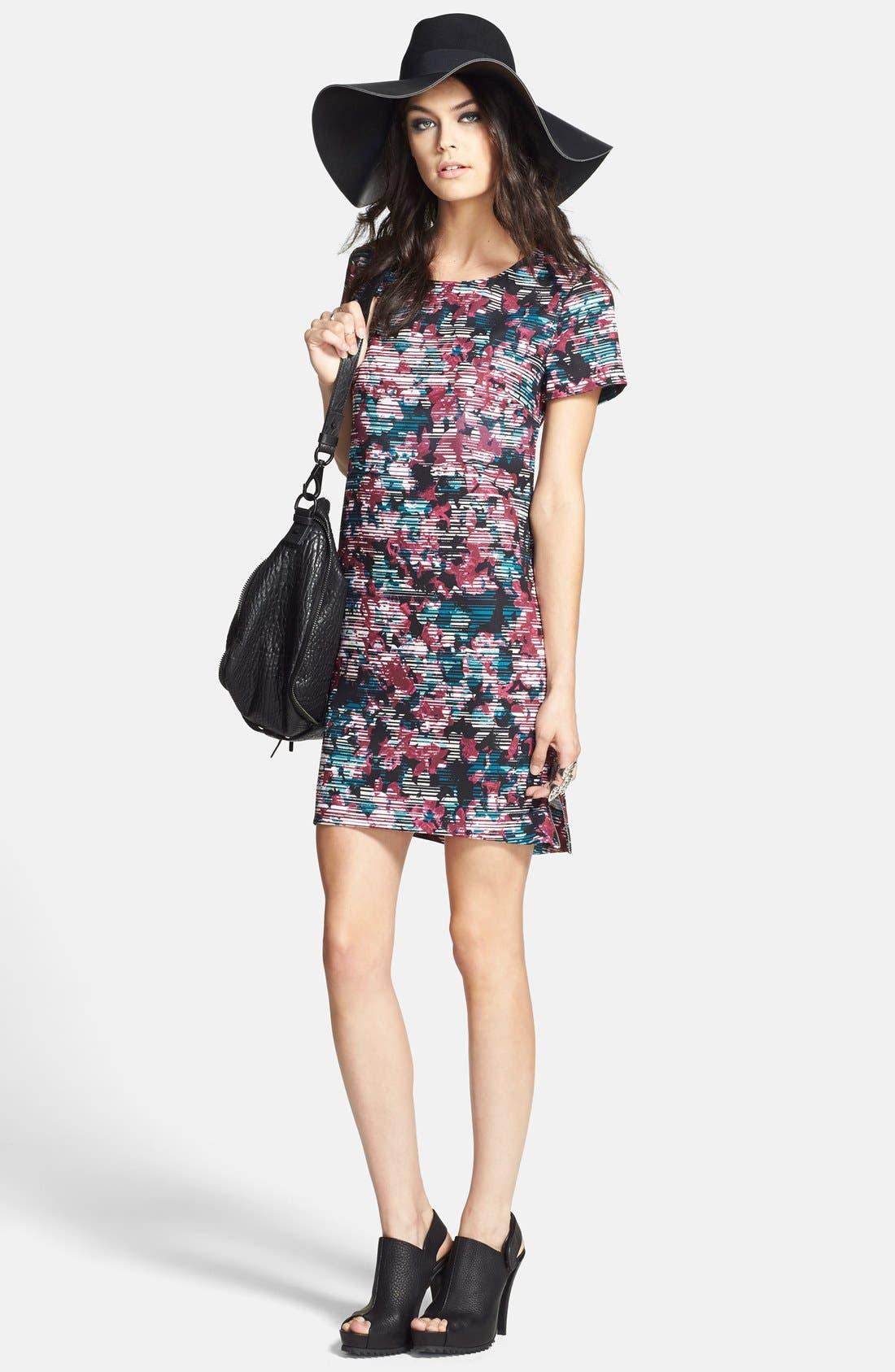 Alternate Image 4  - Wayf Crepe Print Shift Dress