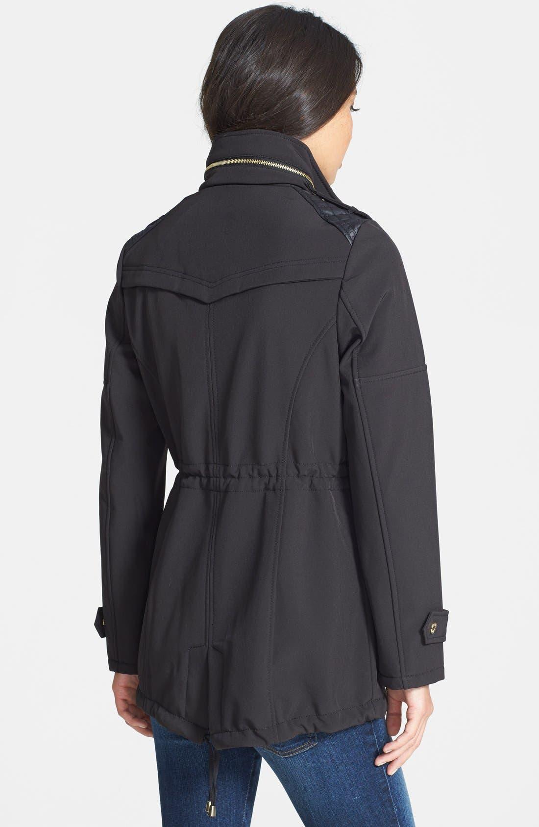 Alternate Image 2  - MICHAEL Michael Kors Faux Leather Detail Anorak with Stowaway Hood