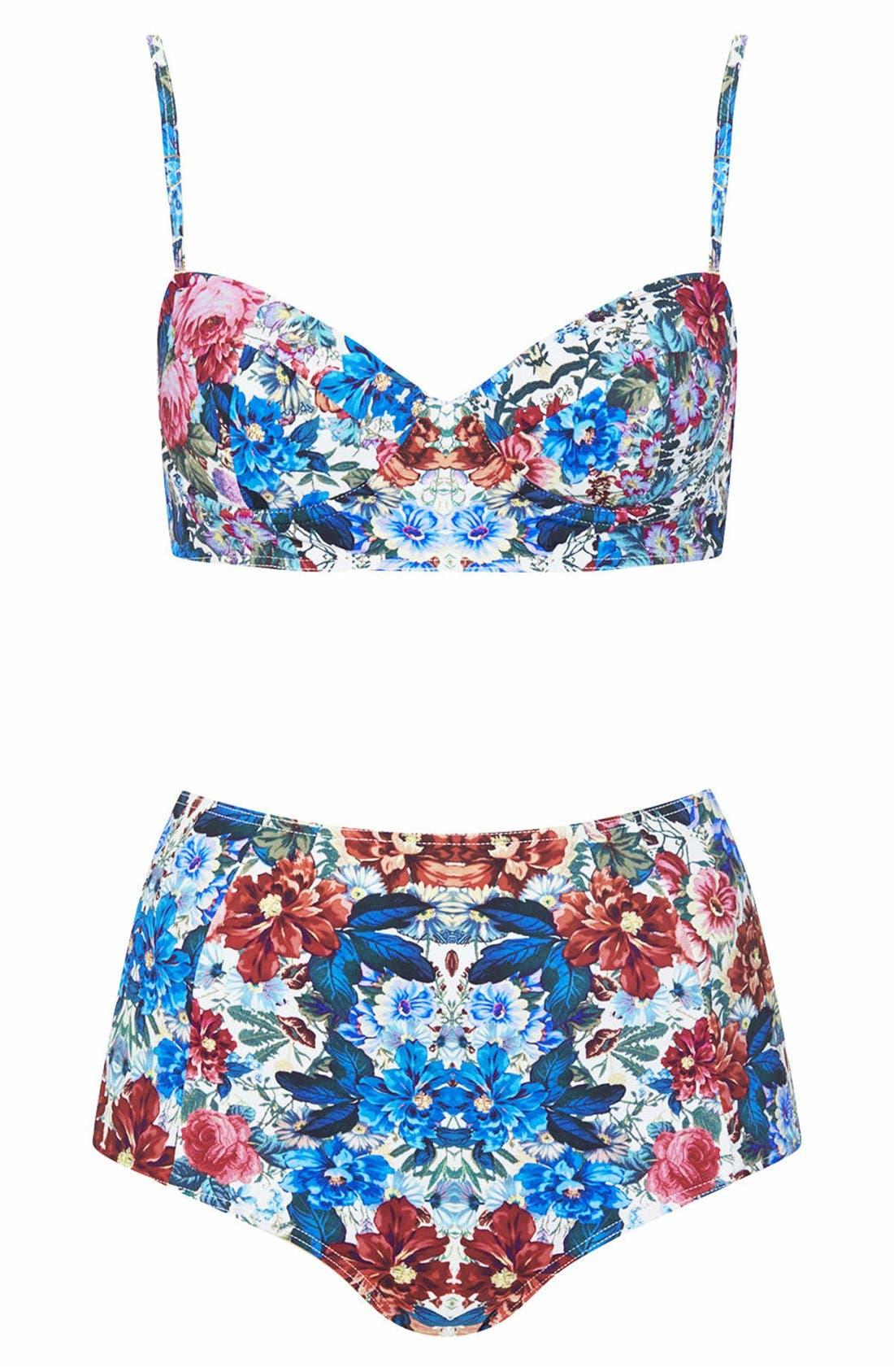 Main Image - Topshop Floral Bikini Set