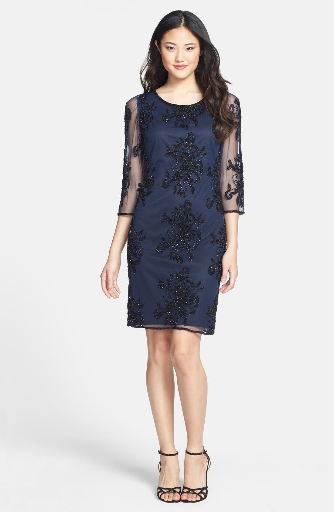 Alternate Image 3  - Pisarro Nights Embellished Sheer Sleeve Tulle Dress