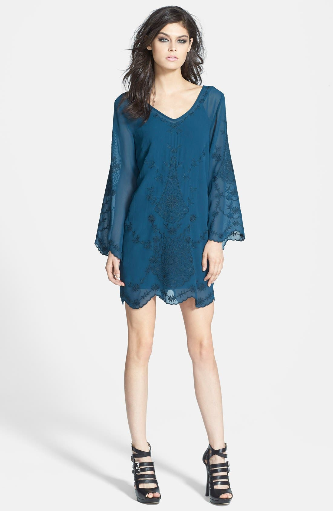 Alternate Image 1 Selected - ASTR Bell Sleeve Shift Dress
