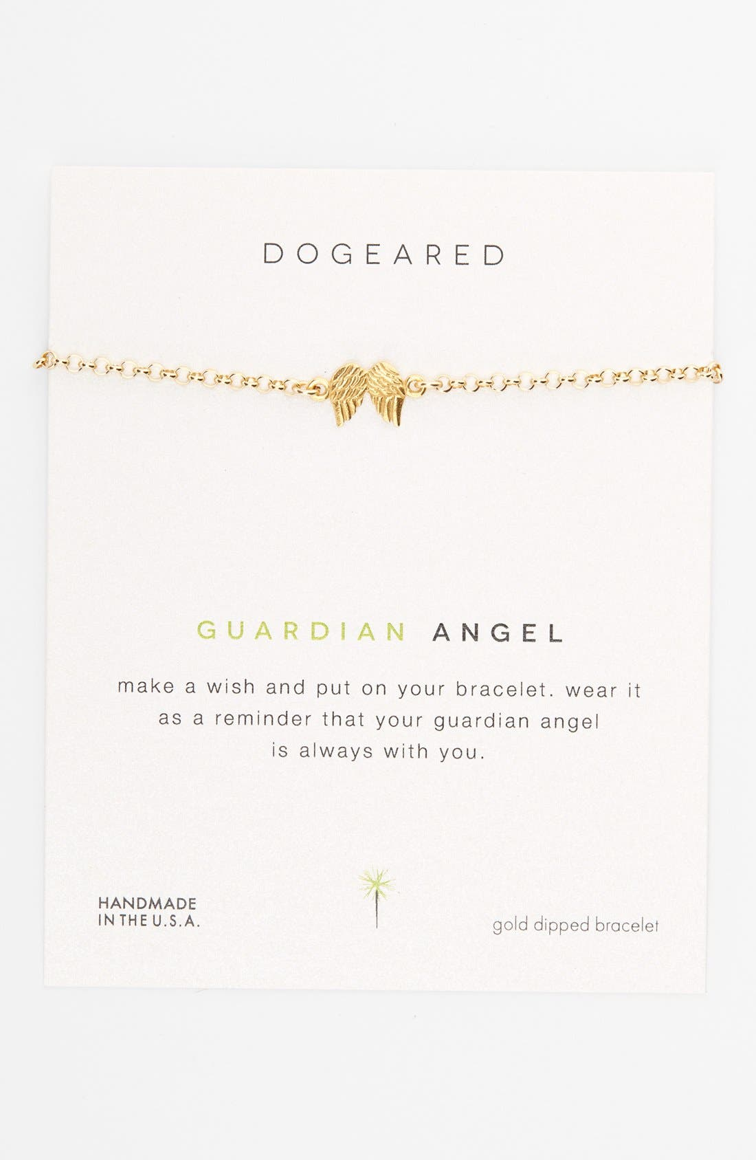 Main Image - Dogeared 'Reminder - Guardian Angel' Boxed Charm Bracelet