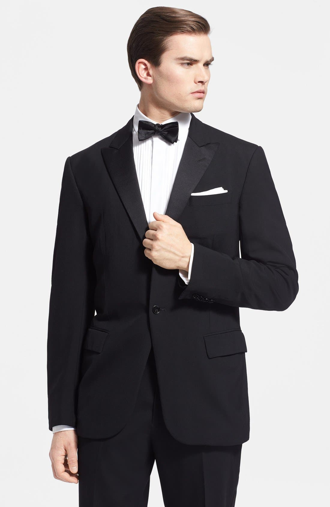 Alternate Image 3  - Ralph Lauren Black Label Wool Tuxedo