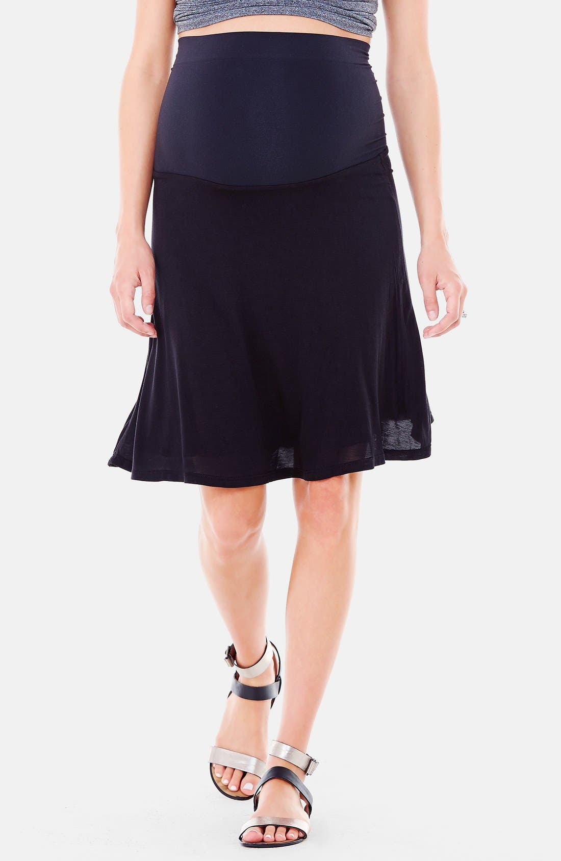 Alternate Image 1 Selected - Ingrid & Isabel® 'Flowy' Maternity Skirt