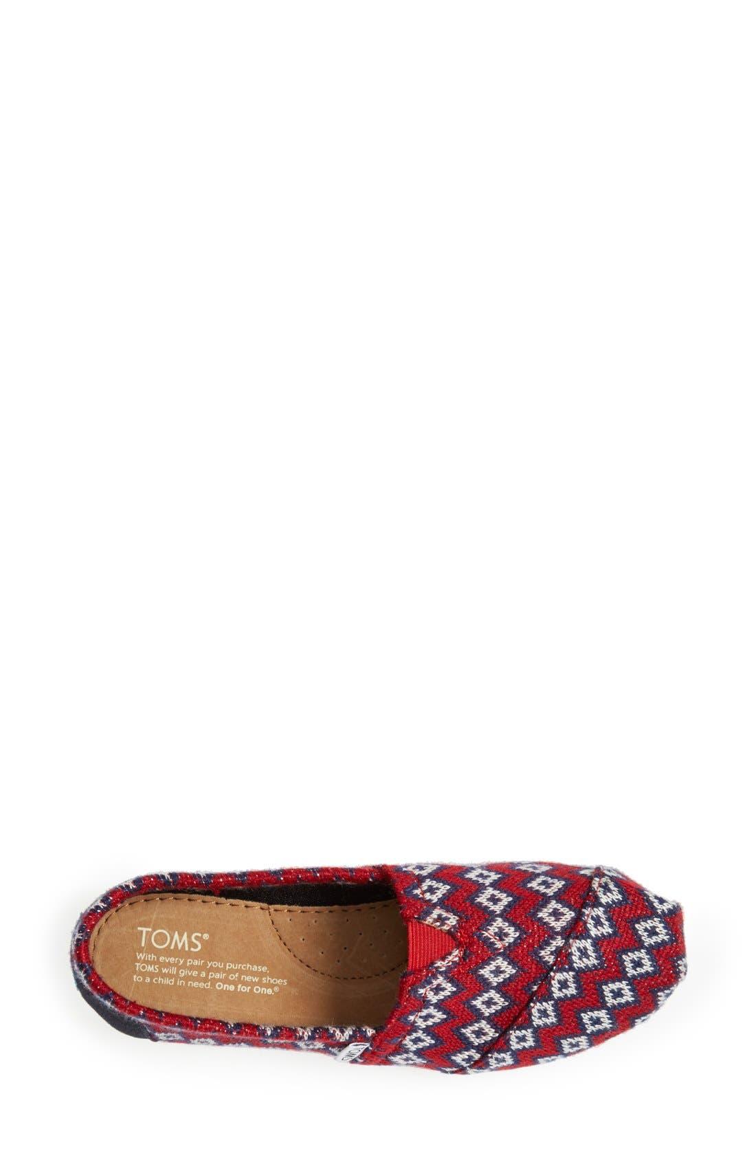 Alternate Image 3  - TOMS 'Classic - Geo Knit' Slip-On (Women)