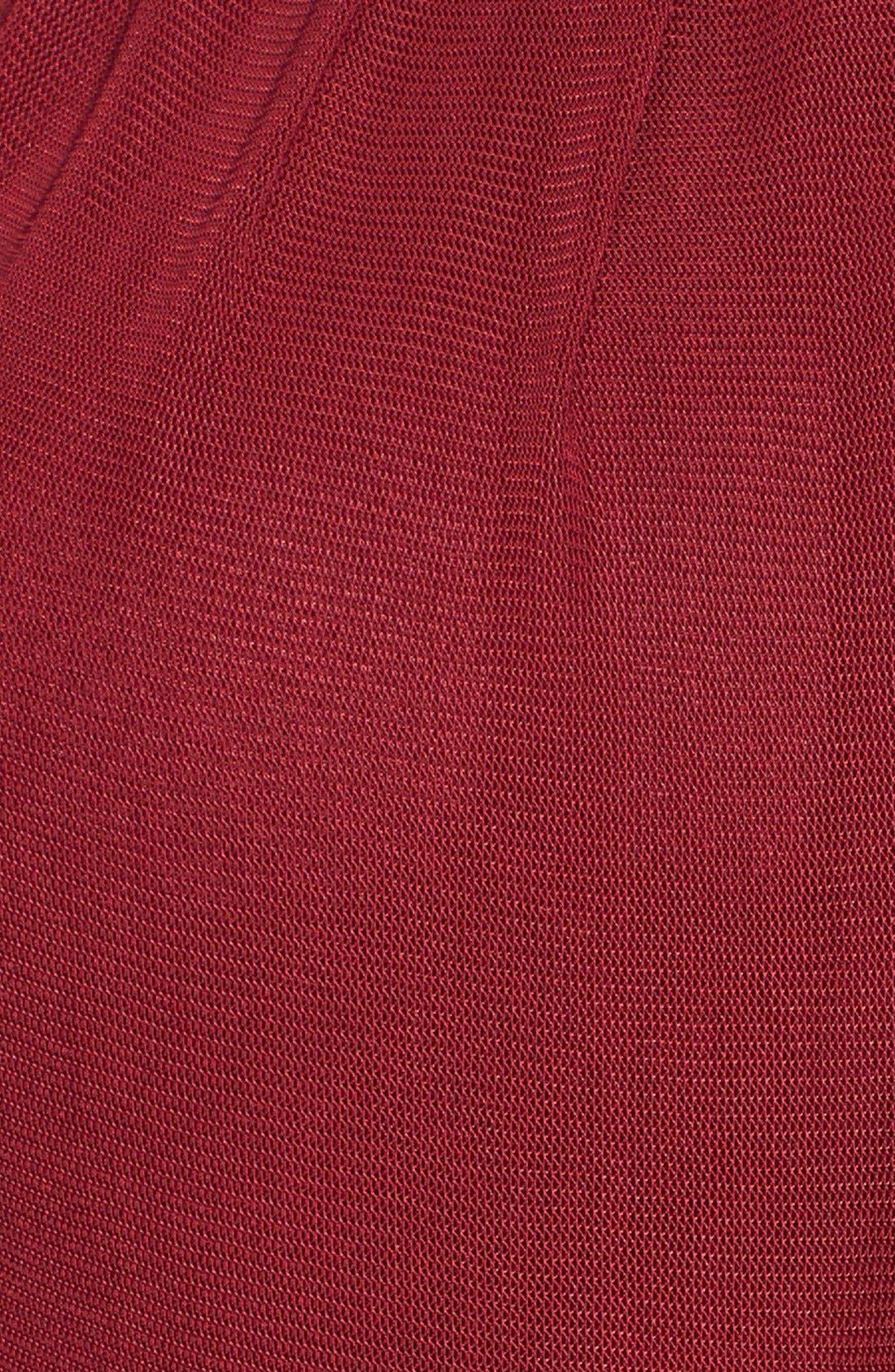 Alternate Image 3  - La Femme Cutout Mesh Gown