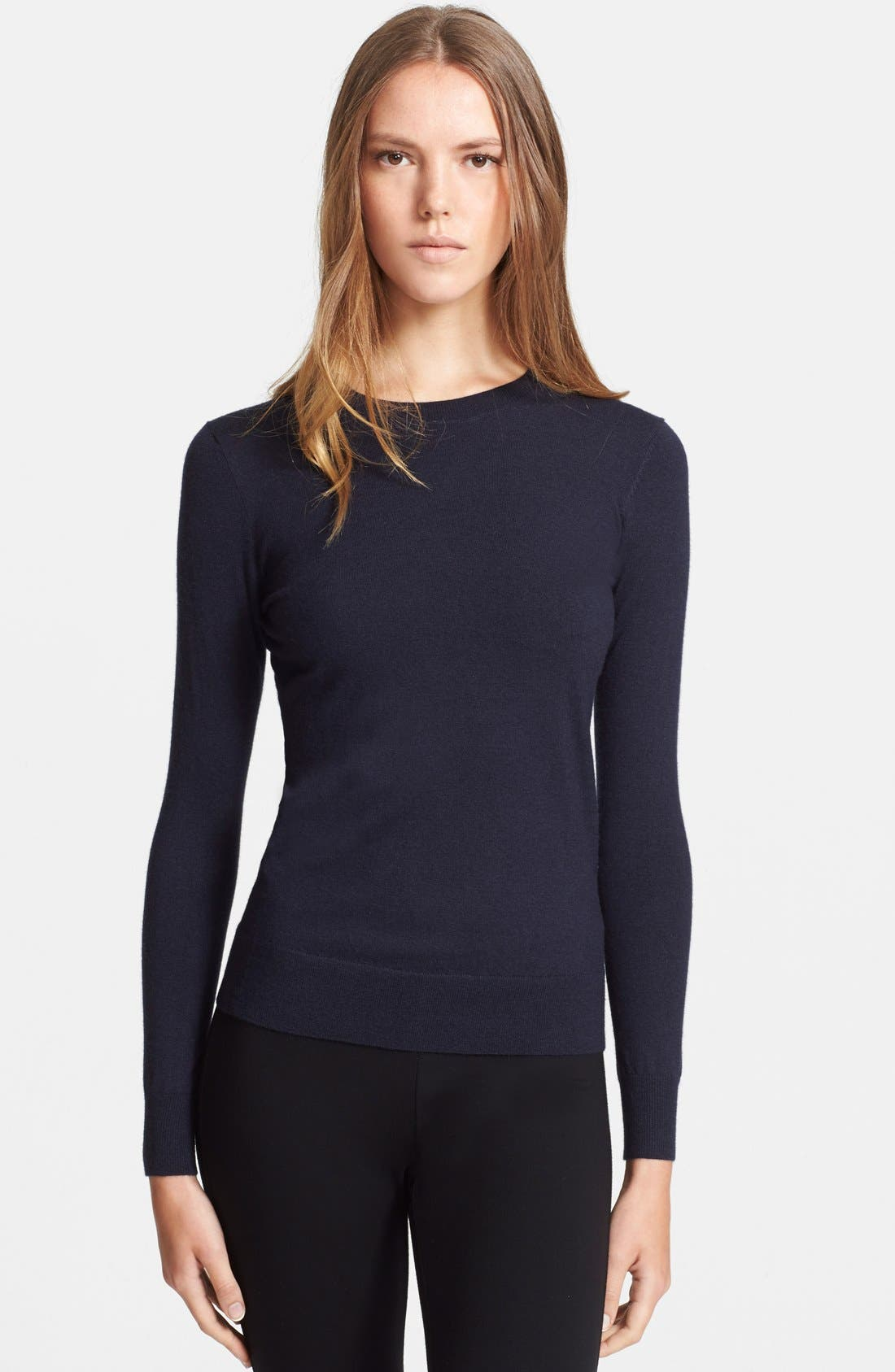 Alternate Image 1 Selected - Theory 'Perfect' Cashmere Blend Crewneck Sweater