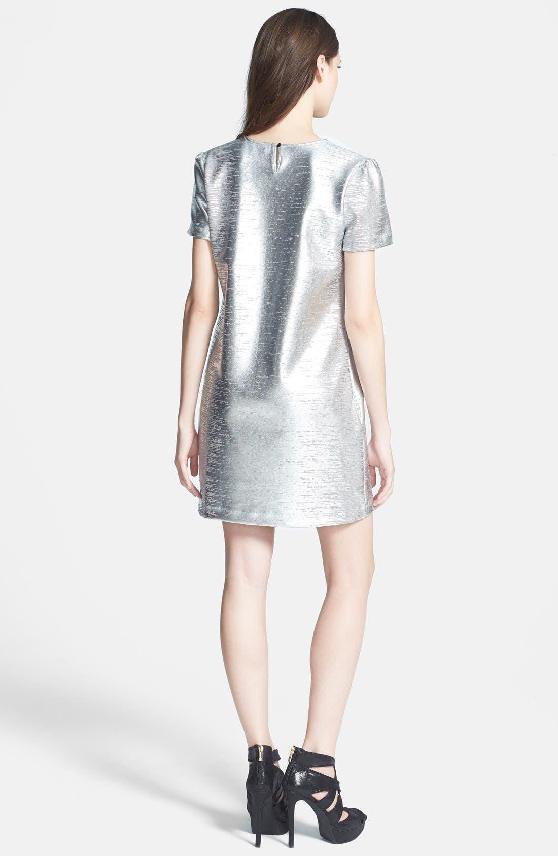 Alternate Image 2  - WAYF Metallic Minidress