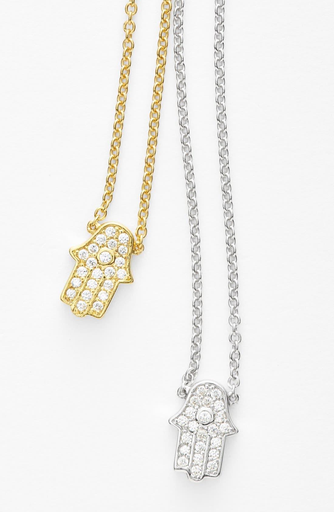 Alternate Image 4  - Sugar Bean Jewelry Pavé Hamsa Pendant Necklace