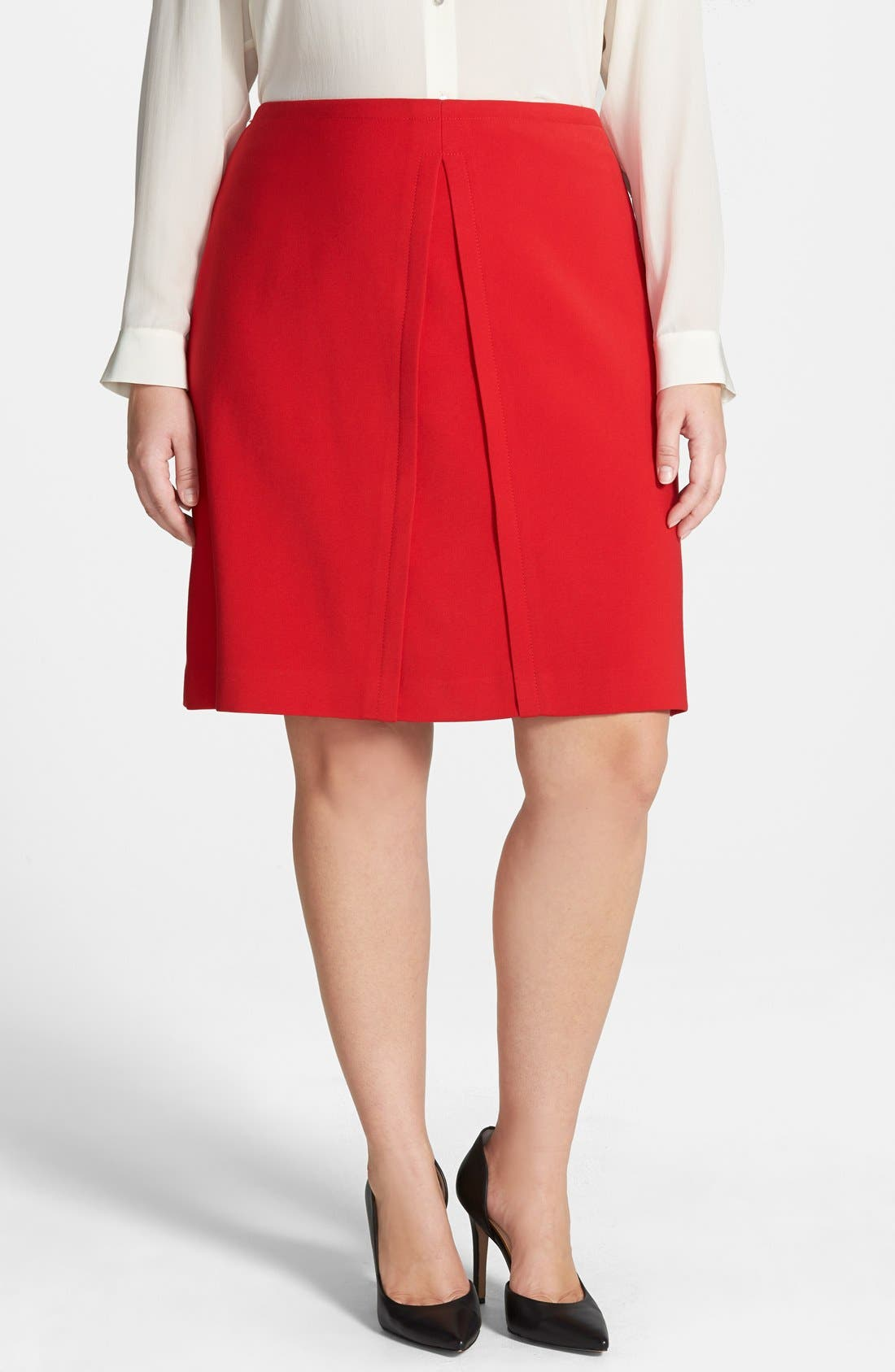 Alternate Image 1 Selected - Anne Klein A-Line Skirt (Plus Size)