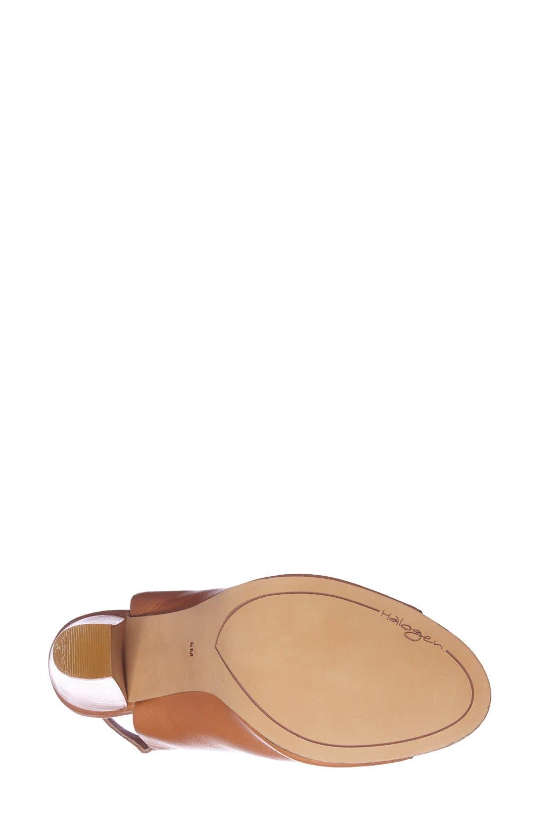 Alternate Image 4  - Halogen 'Sasha' Leather Sandal (Women)