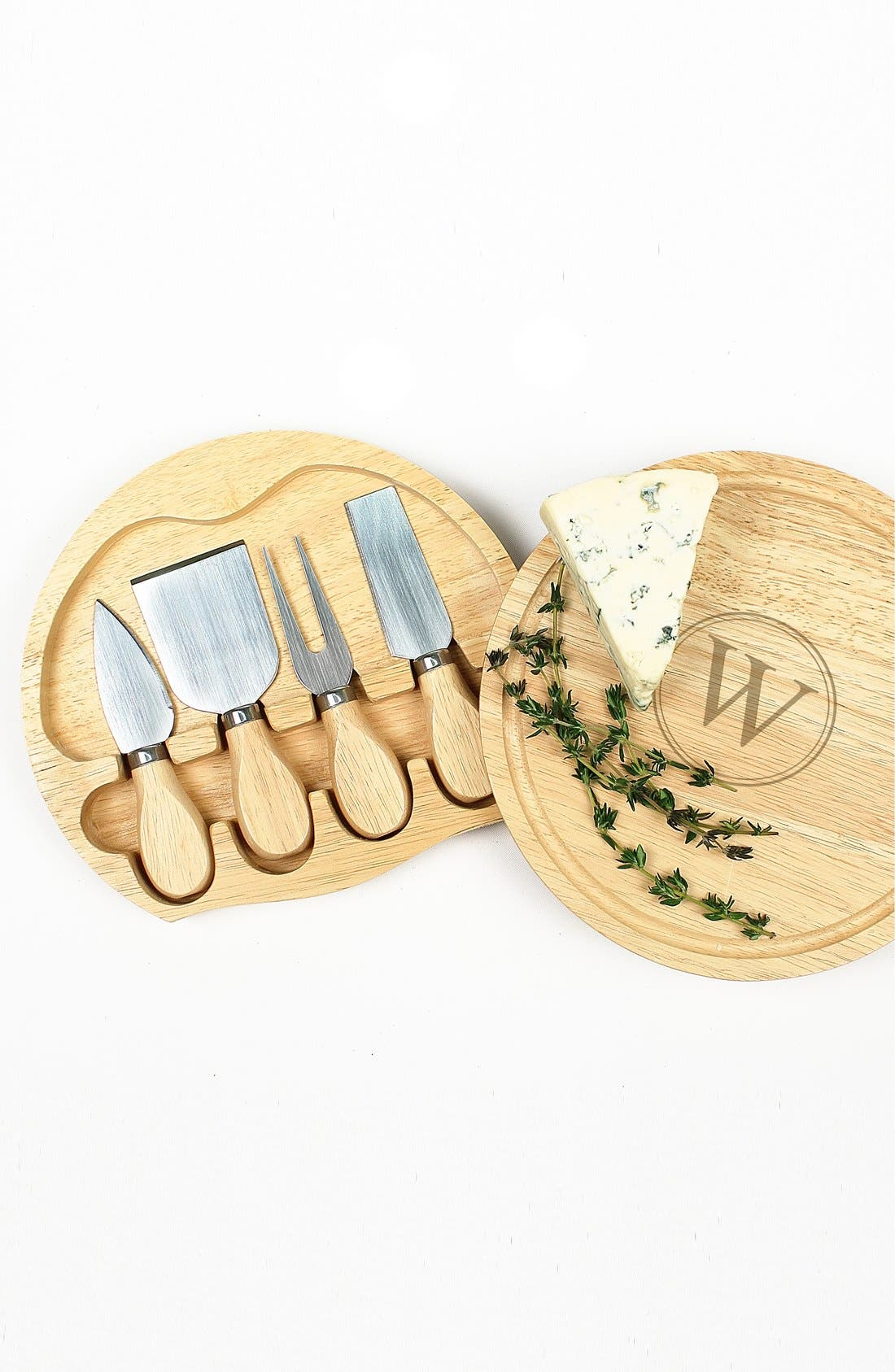 Alternate Image 2  - Cathy's Concepts 5-Piece Monogram Cheese Board & Utensil Set