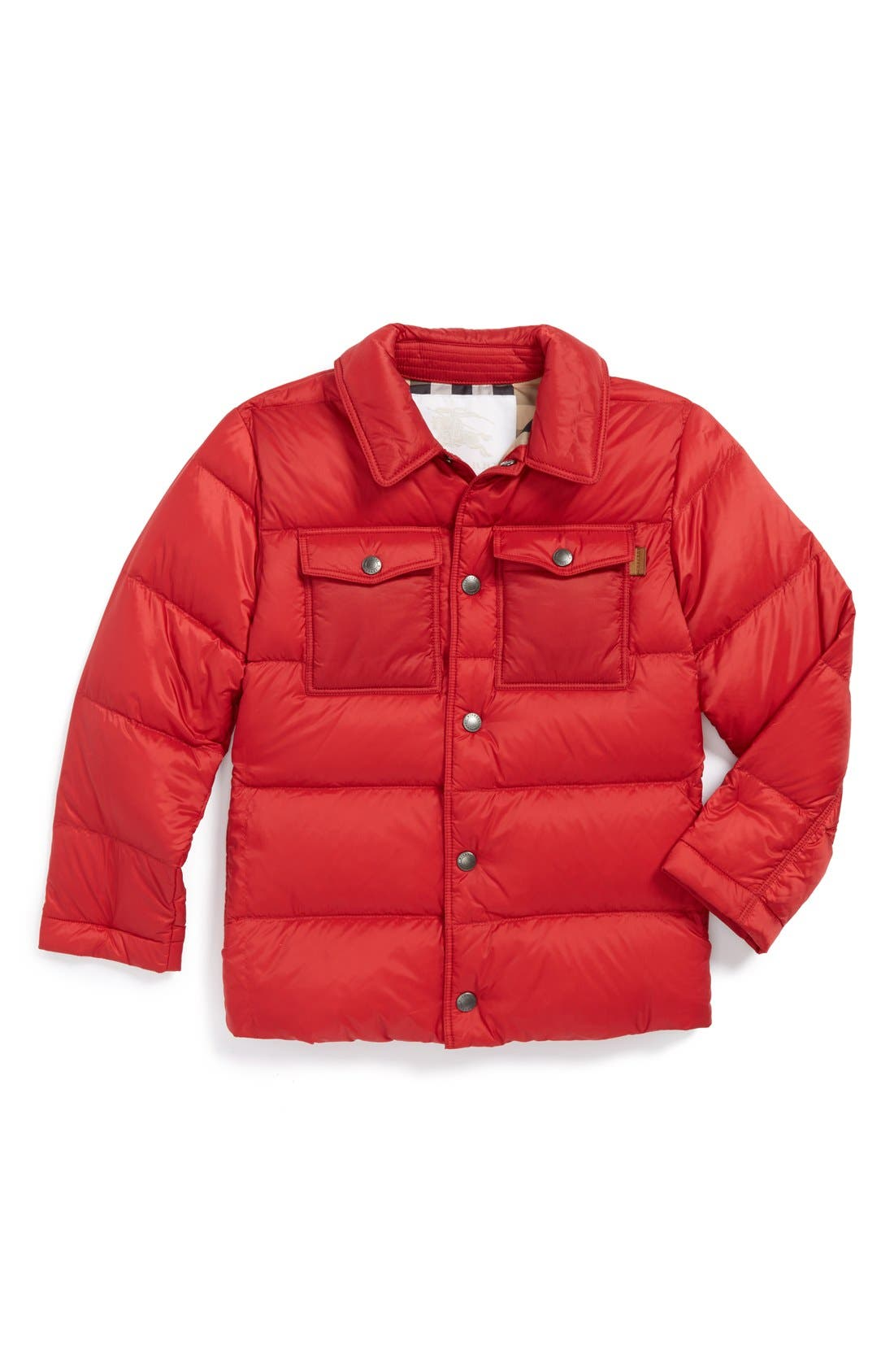 Alternate Image 1 Selected - Burberry 'Mini Justin' Quilted Down Puffer Jacket (Toddler Boys)