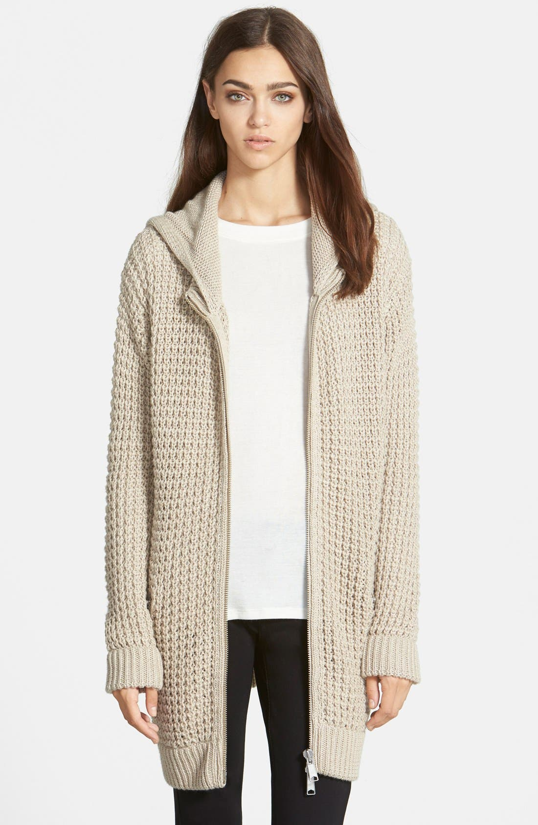 Main Image - Trouvé Waffle Knit Sweater Coat
