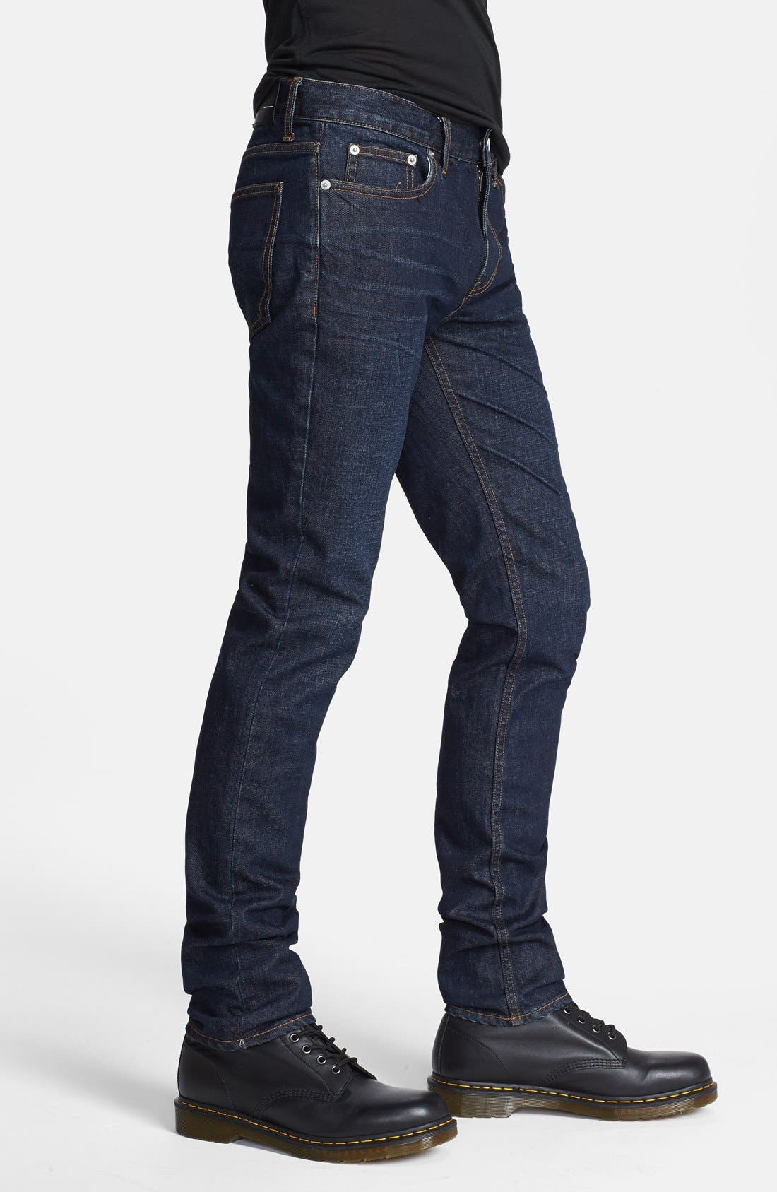 Alternate Image 3  - BLK DNM Skinny Fit Jeans (Gates Blue)