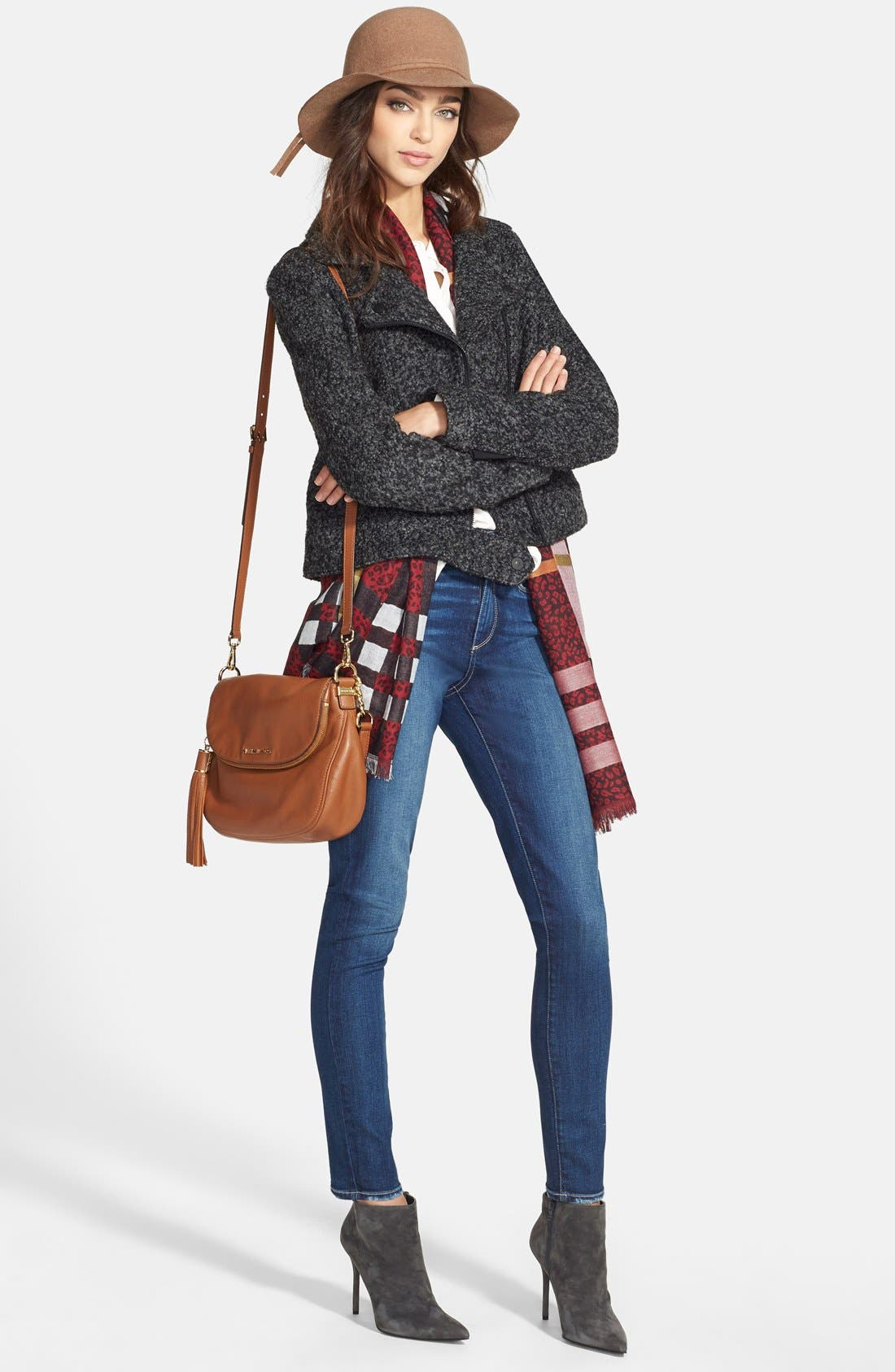 Alternate Image 4  - PAIGE 'Hoxton' High Rise Skinny Jeans (Woodrow)