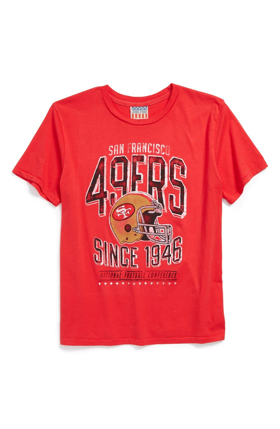 Alternate Image 1 Selected - Junk Food 'San Francisco 49ers - NFL' Graphic T-Shirt (Little Boys & Big Boys)