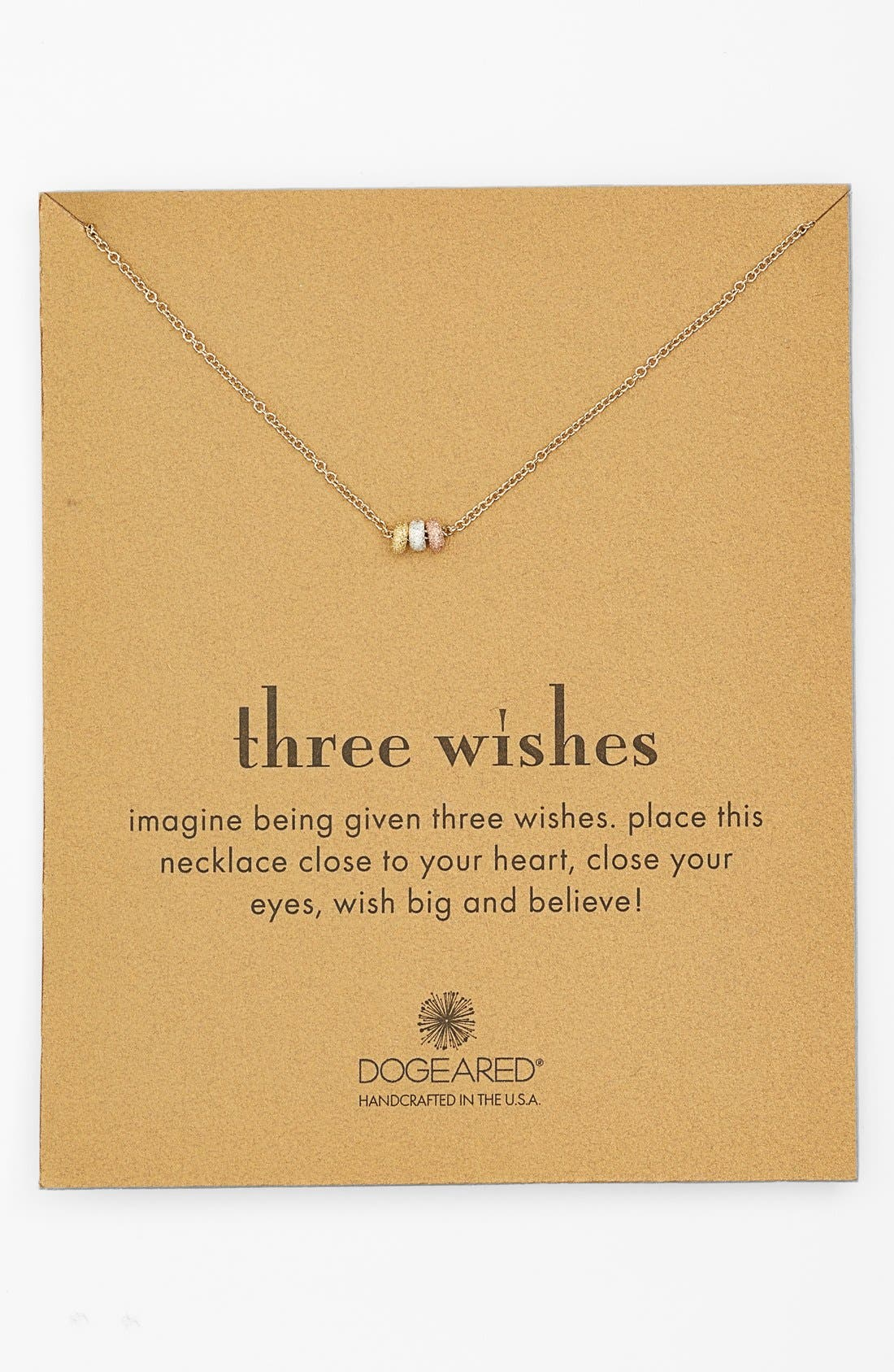 Main Image - Dogeared 'Reminder - Three Wishes' Boxed Bead Pendant Necklace (Nordstrom Exclusive)