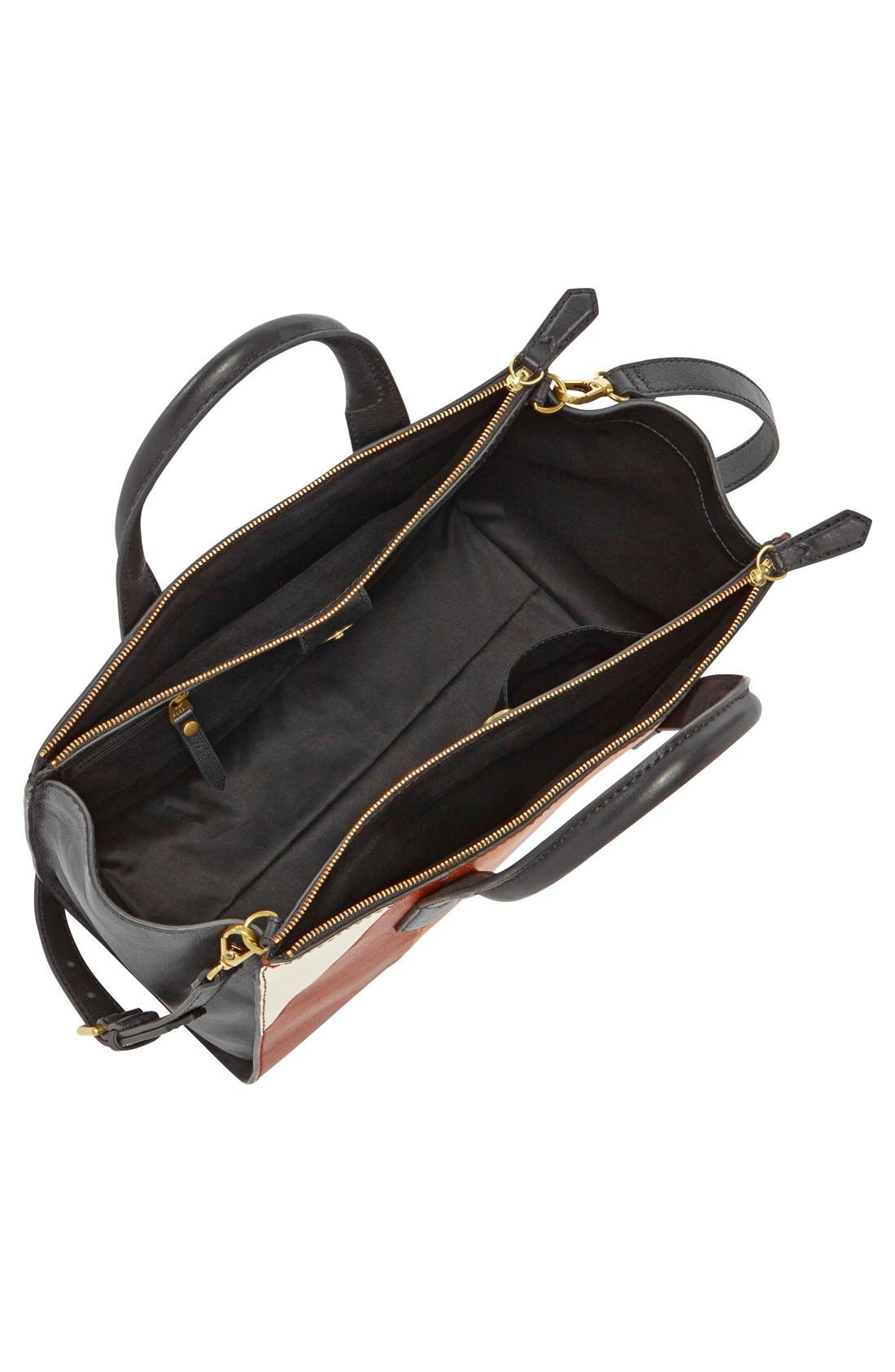 Alternate Image 2  - Fossil 'Knox' Patchwork Leather Shopper