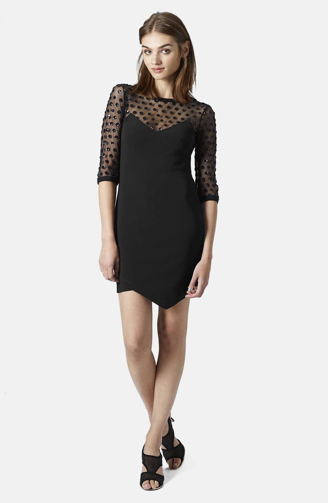 Alternate Image 3  - Topshop Mesh Body-Con Dress