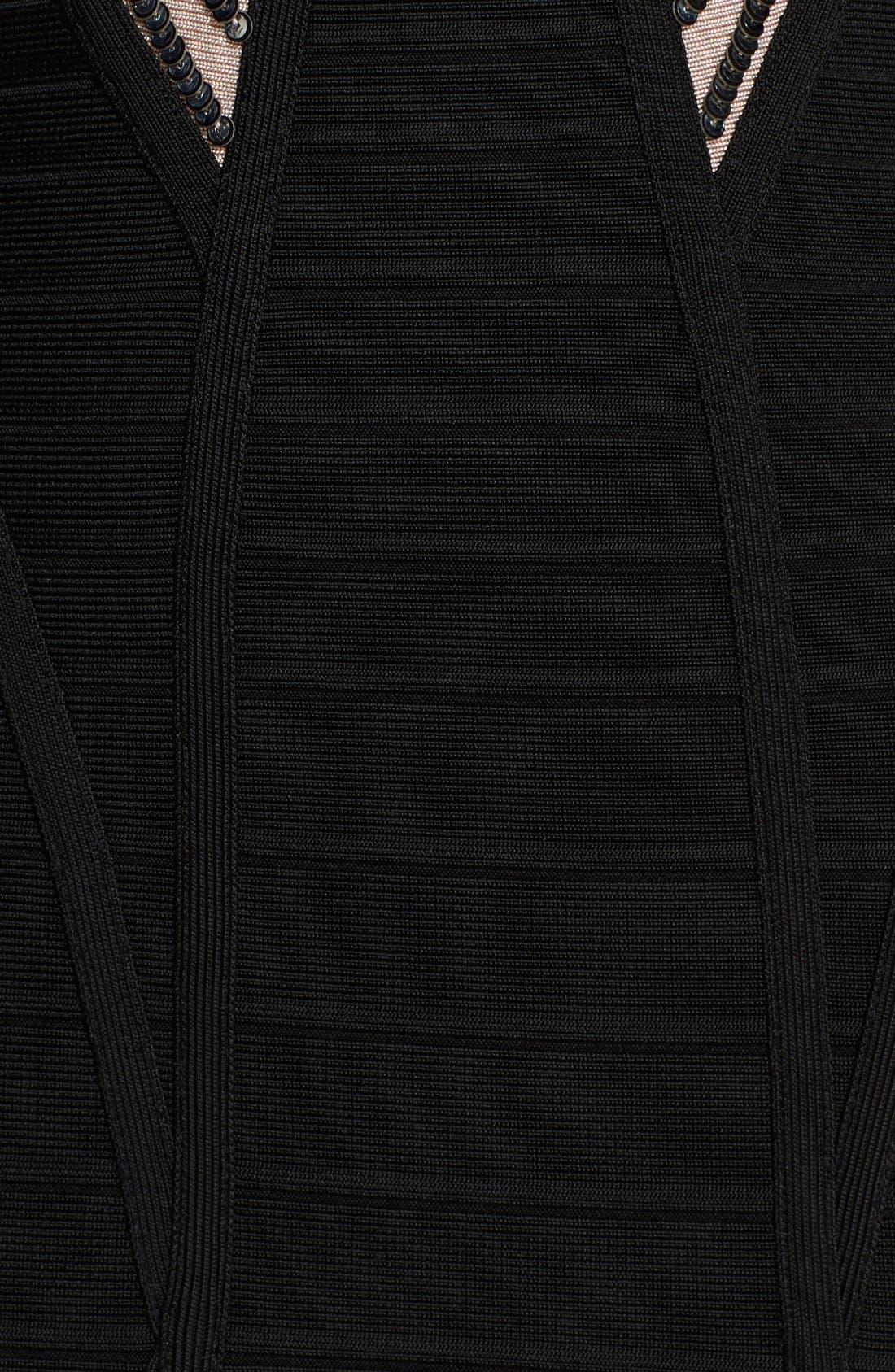 Alternate Image 4  - Herve Leger Triangle Detail Bandage Dress