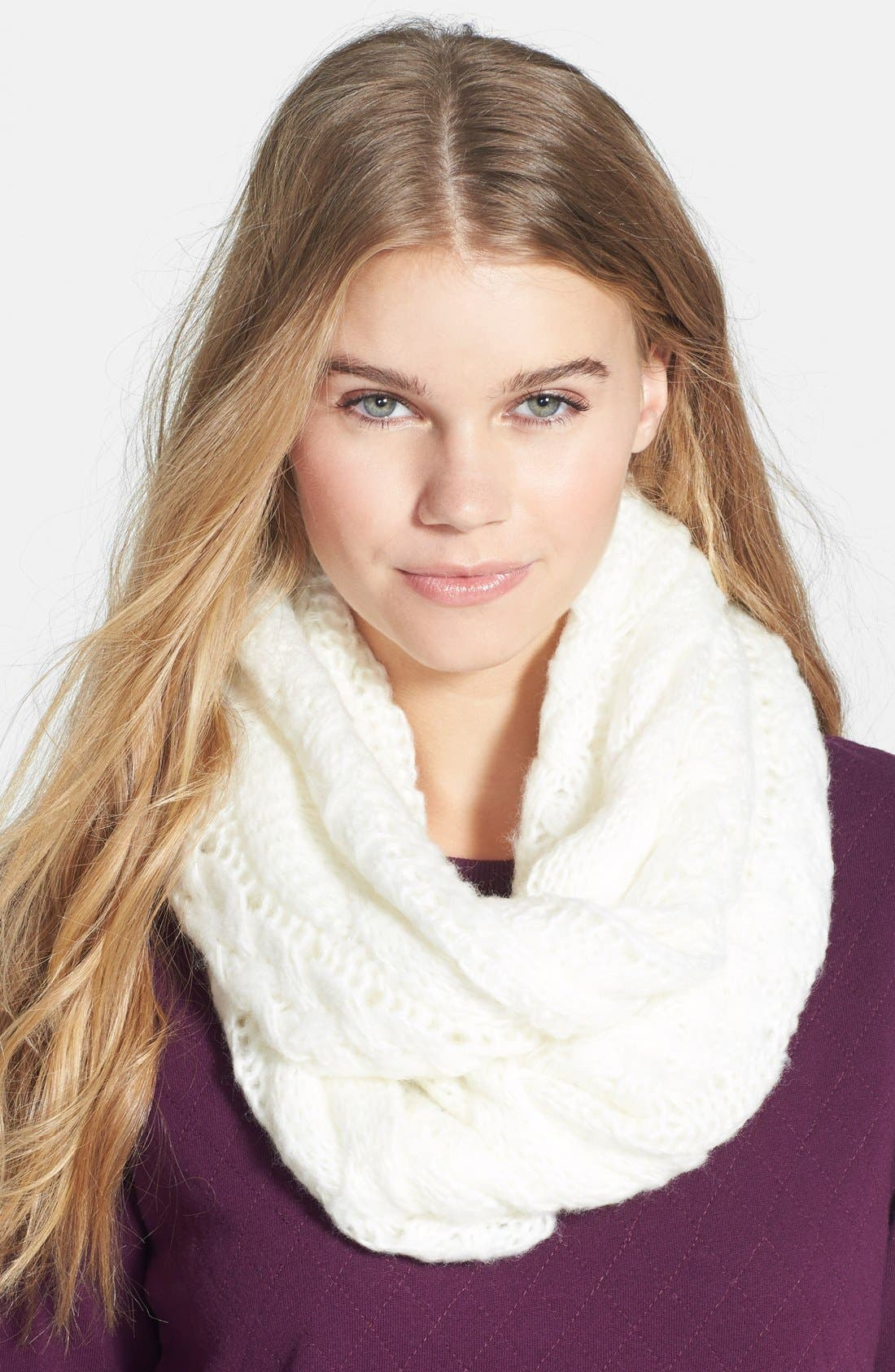 Main Image - BP. Cable Knit Infinity Scarf (Juniors)