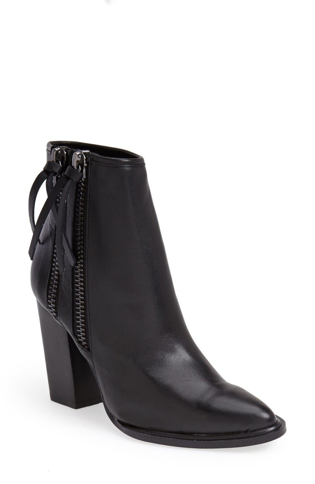 Alternate Image 1 Selected - Steve Madden 'Marando' Pointy Toe Leather Bootie (Women)