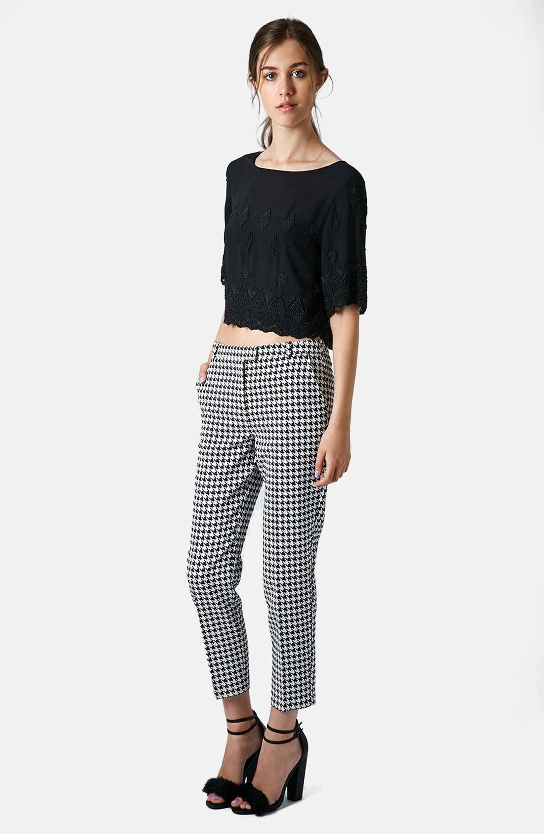 Alternate Image 5  - Topshop Houndstooth Cigarette Trousers