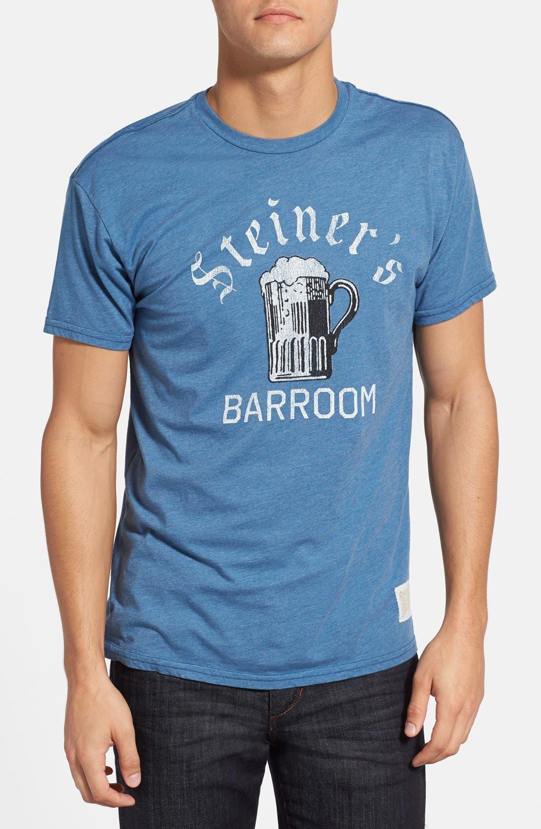 Alternate Image 1 Selected - Retro Brand 'Steiner's Bar Room' Slim Fit Graphic T-Shirt