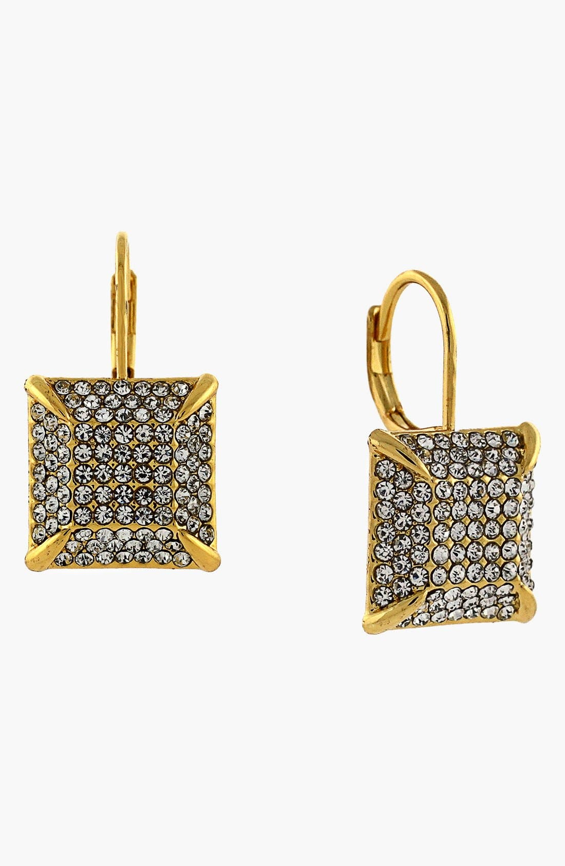 Alternate Image 1 Selected - Vince Camuto 'Glam Punk' Pavé Square Drop Earrings