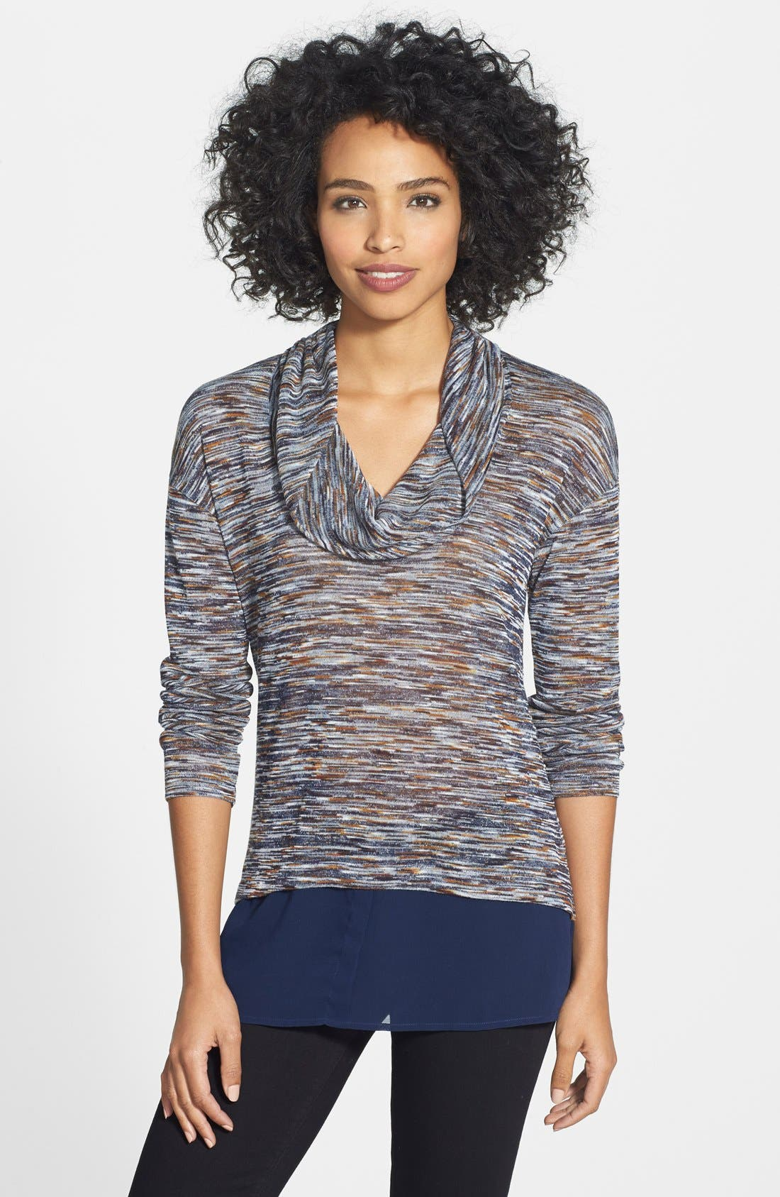 Main Image - KUT from the Kloth 'Isa' Layer Look Cowl Neck Top