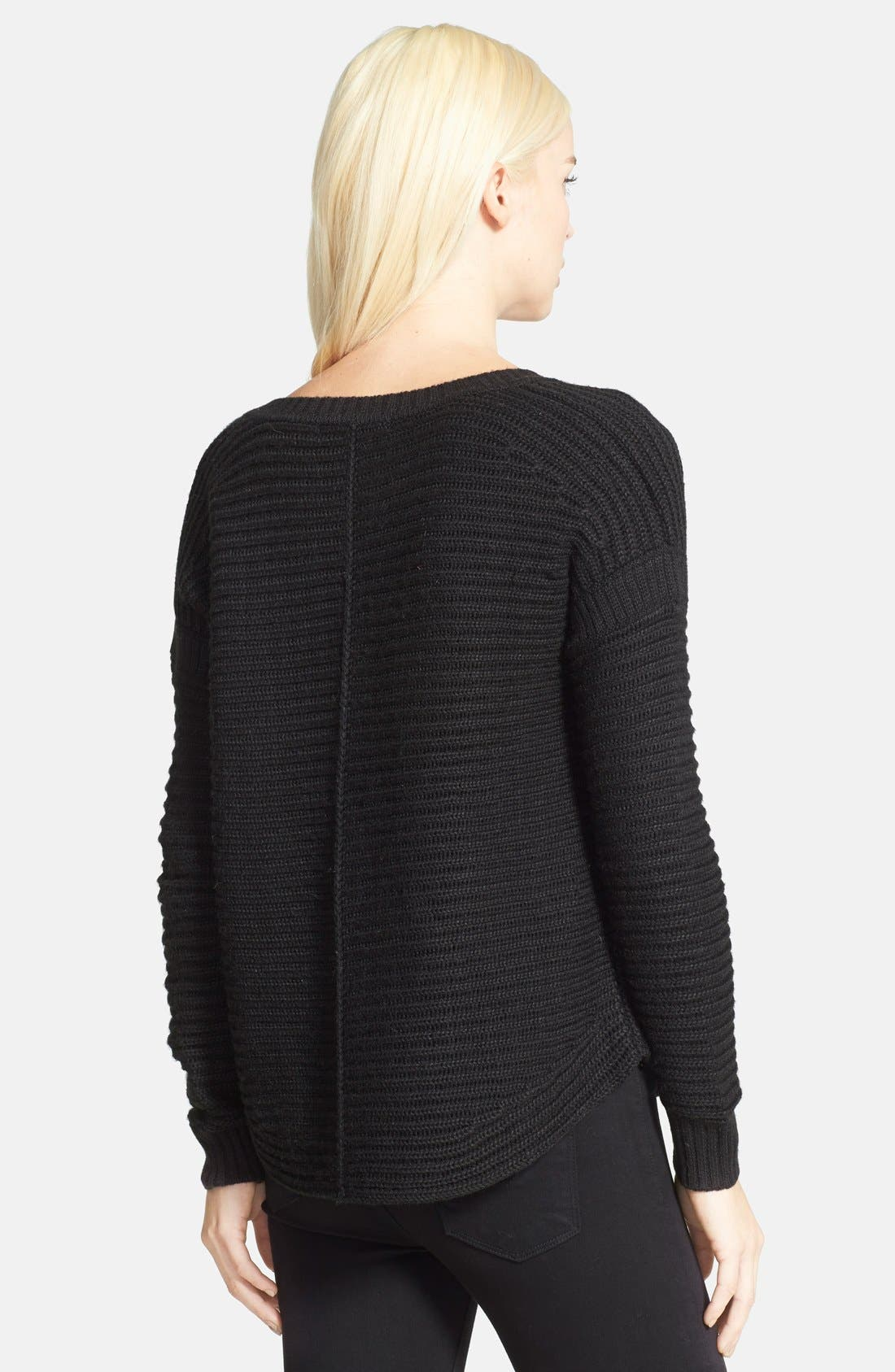 Alternate Image 2  - Sam Edelman Rib V-Neck Sweater