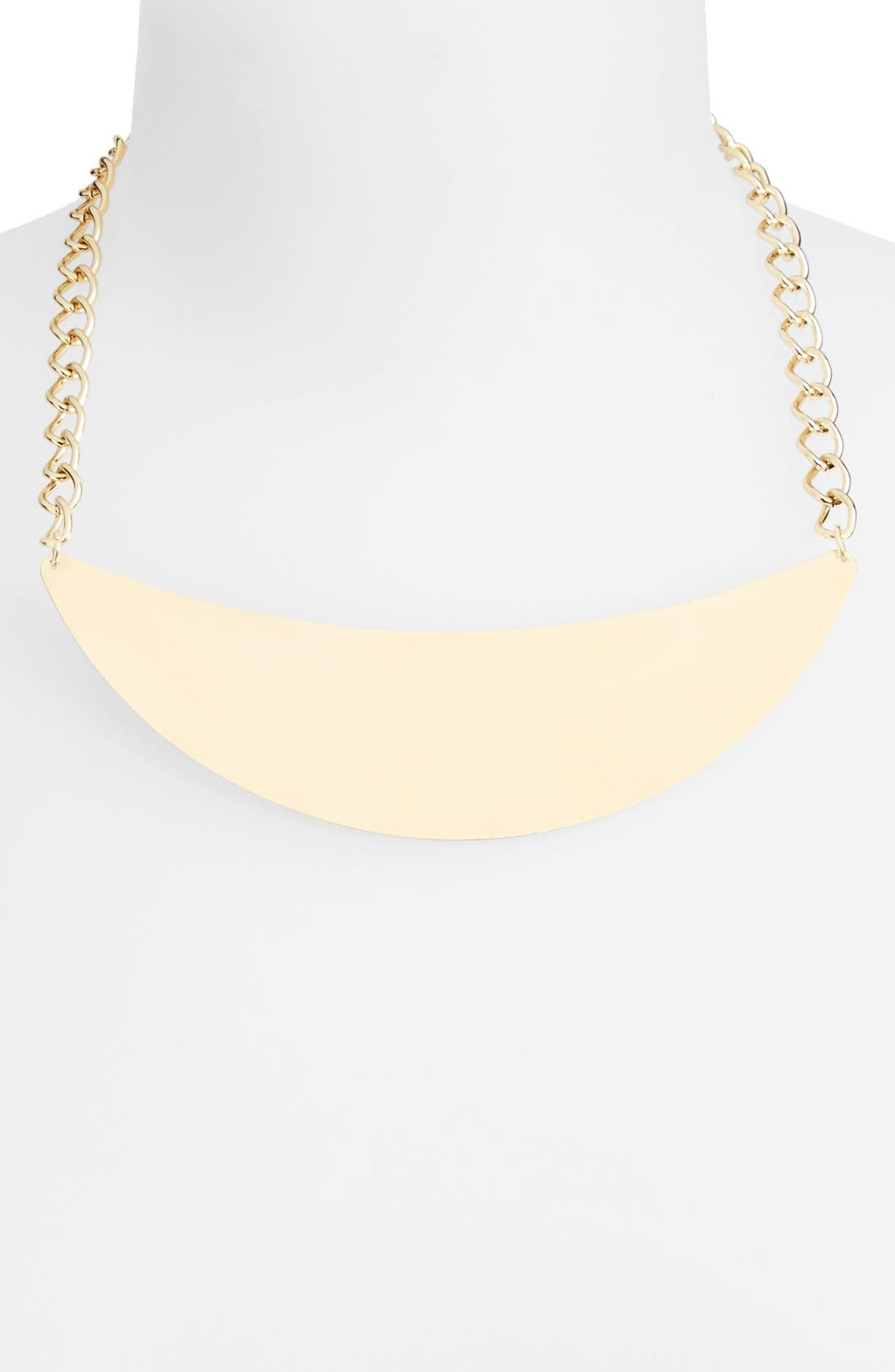 Alternate Image 1 Selected - Topshop Curb Link Pendant Necklace