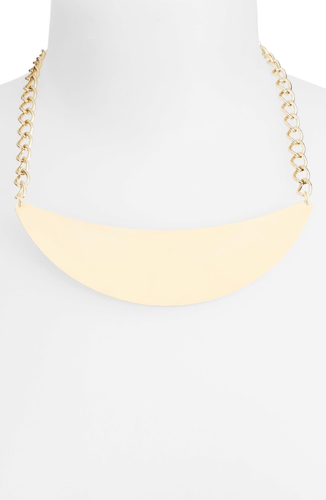 Main Image - Topshop Curb Link Pendant Necklace