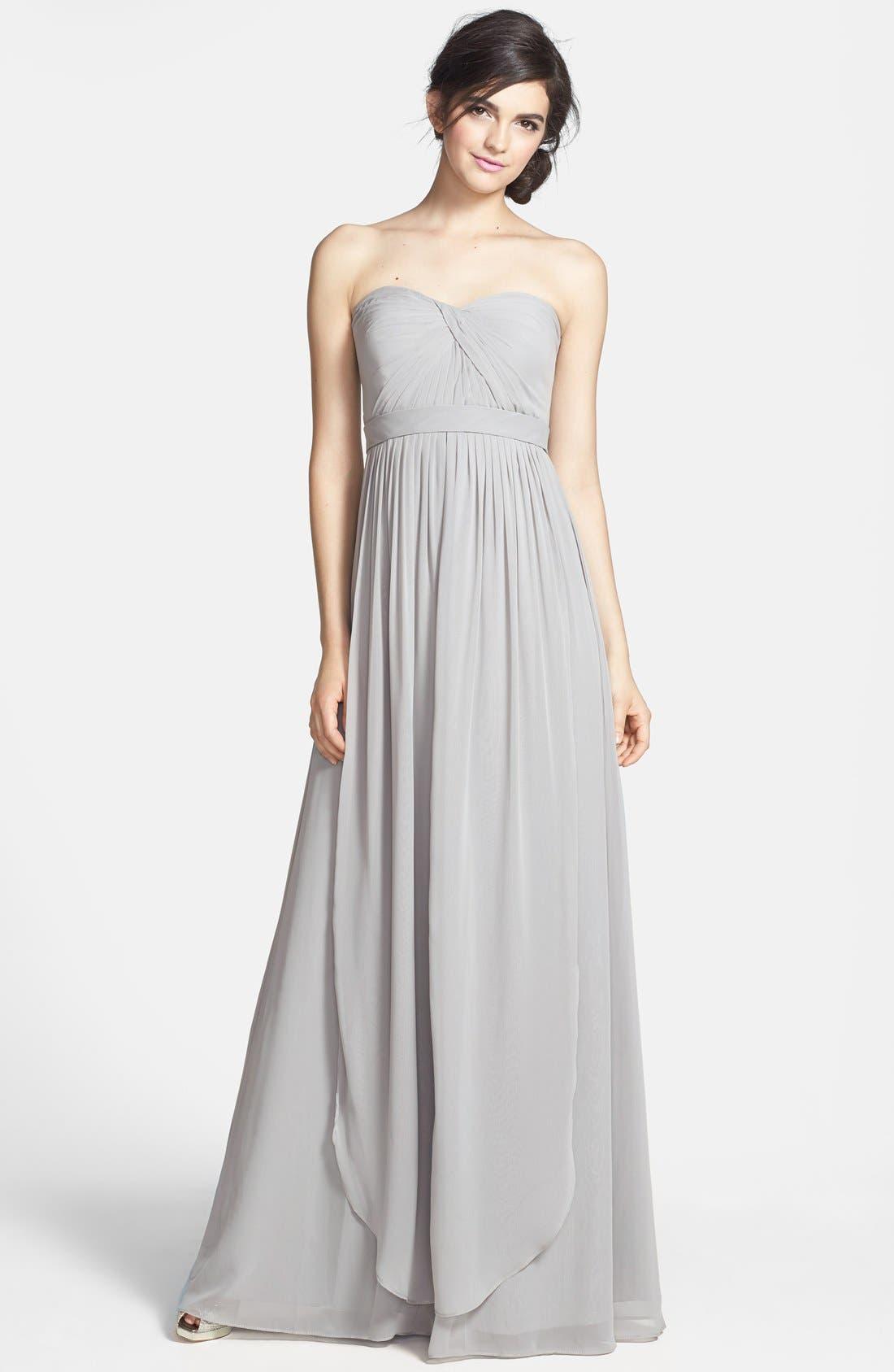 Alternate Image 1 Selected - Jenny Yoo 'Aidan' Convertible Strapless Chiffon Gown