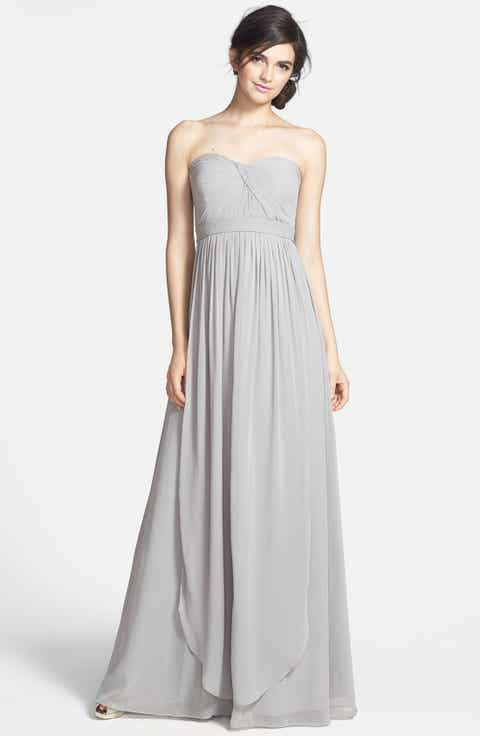 Long bridesmaid dresses nordstrom for Nordstrom short wedding dresses
