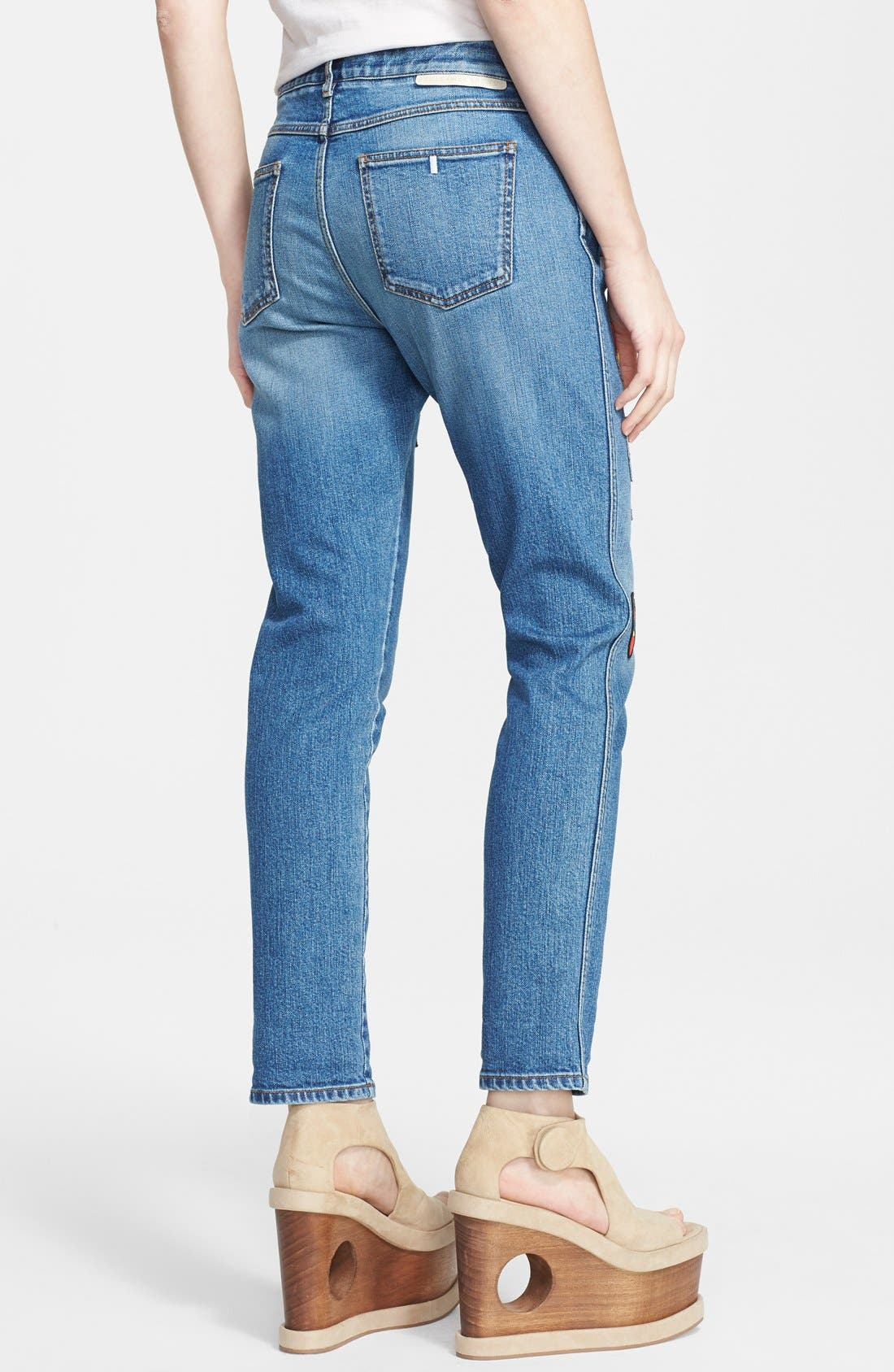 Alternate Image 2  - Stella McCartney Superhero Patchwork Skinny Boyfriend Jeans