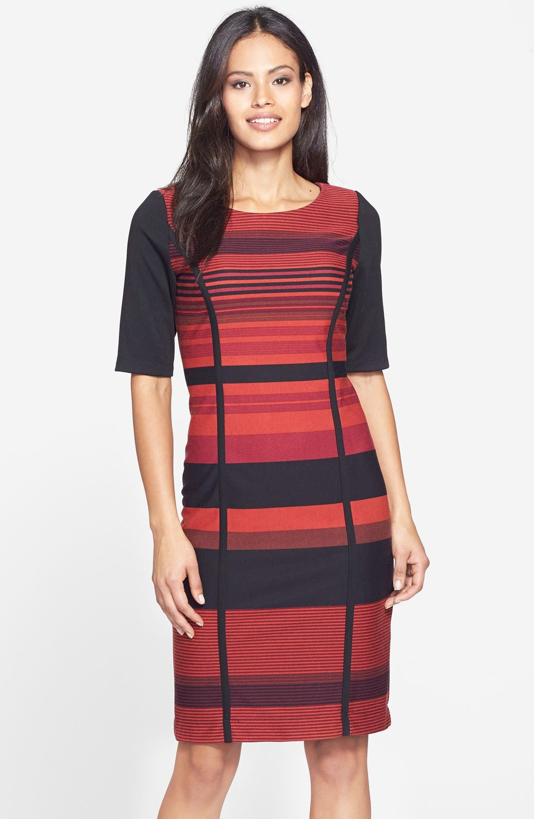 Main Image - Gabby Sky Stripe Ponte Sheath Dress