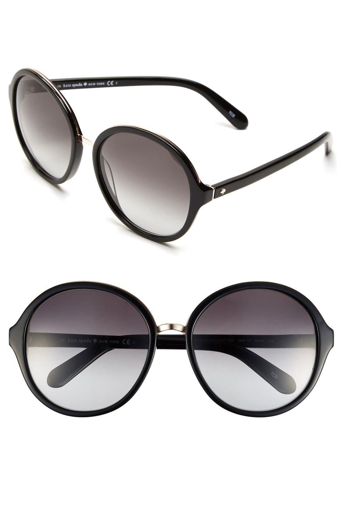 Alternate Image 1 Selected - kate spade new york 'bernadette' 58mm gradient sunglasses