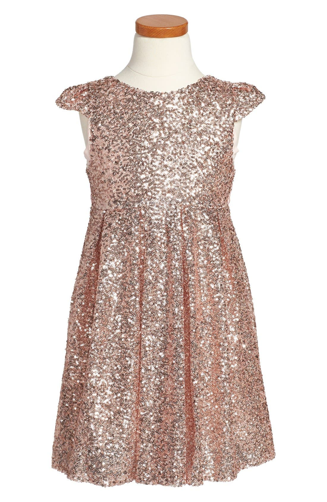 Alternate Image 1 Selected - ilovegorgeous 'Moon Festival' Sequin Dress (Toddler Girls & Little Girls)